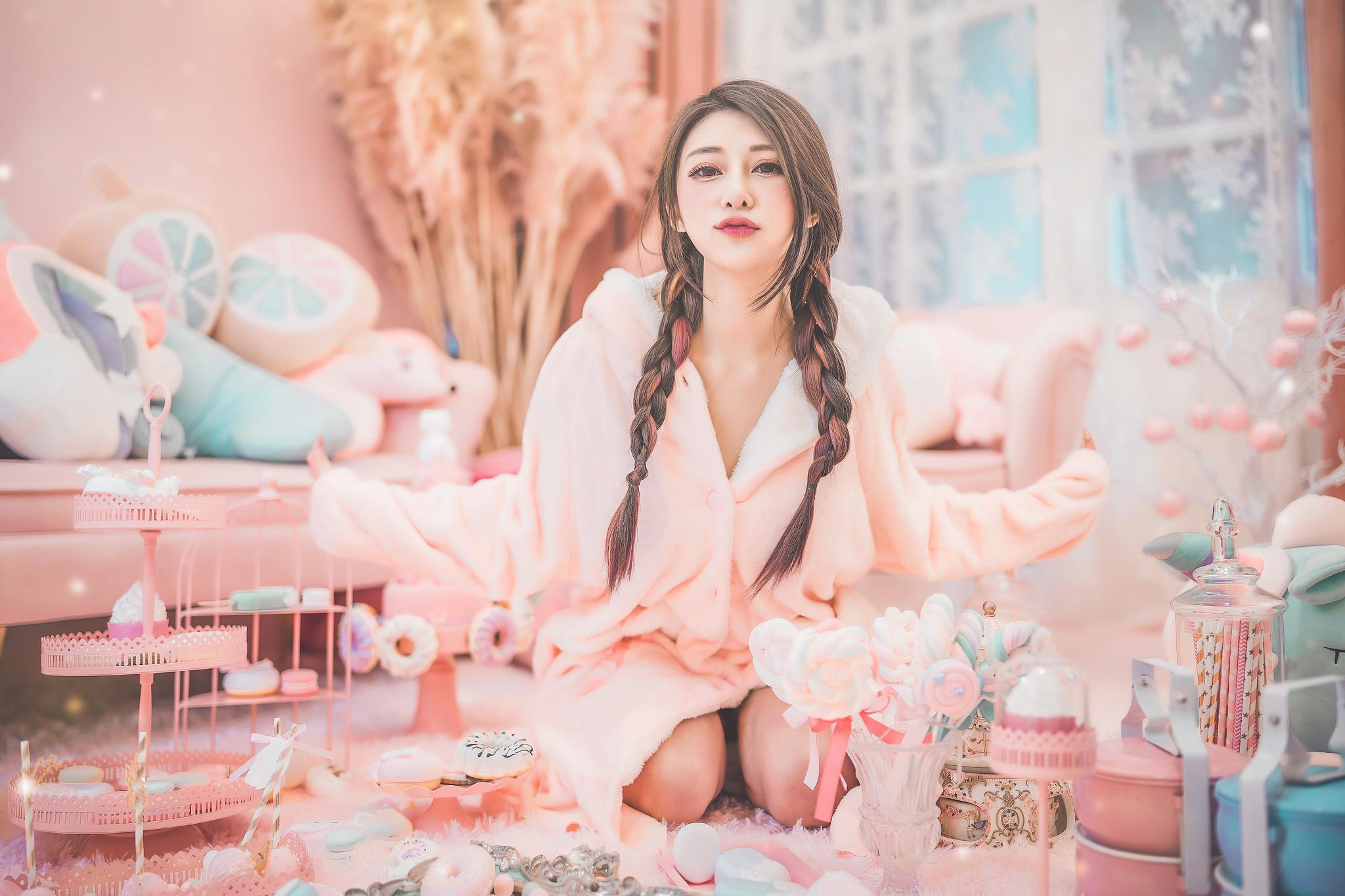 People 2048x1365 colorful Asian women model long hair women indoors