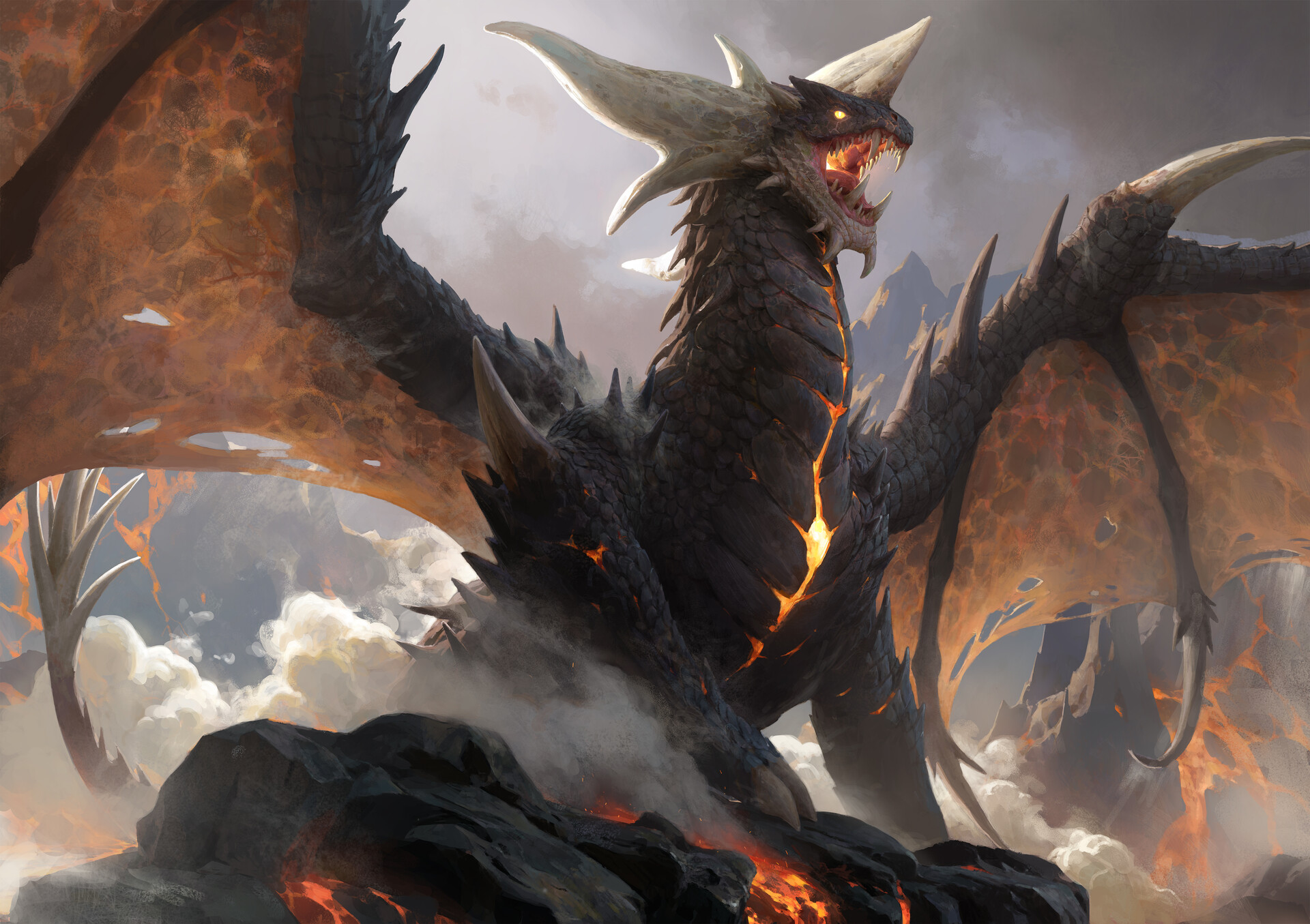 General 1920x1355 artwork dragon fantasy art creature