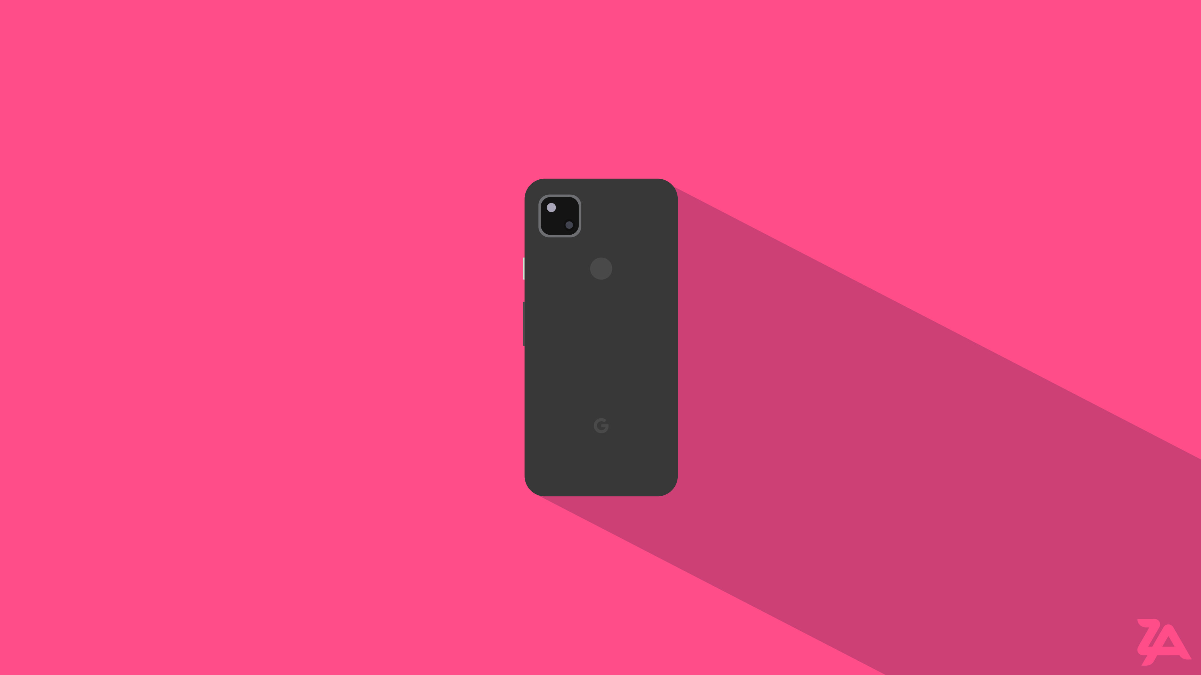 General 3840x2160 cell phone smartphone Adobe illustration digital art 2K Google pixel 4a google pixel pink background technology CGI simple background pink