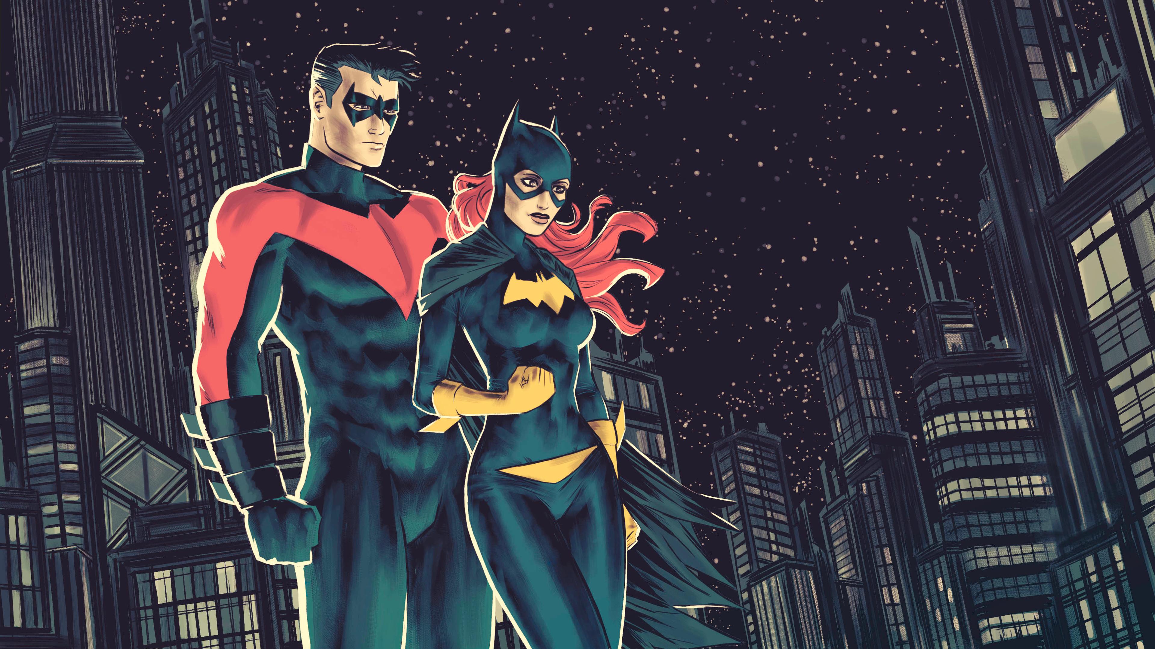 General 3840x2160 Nightwing Batgirl 4K ArtStation superhero artwork