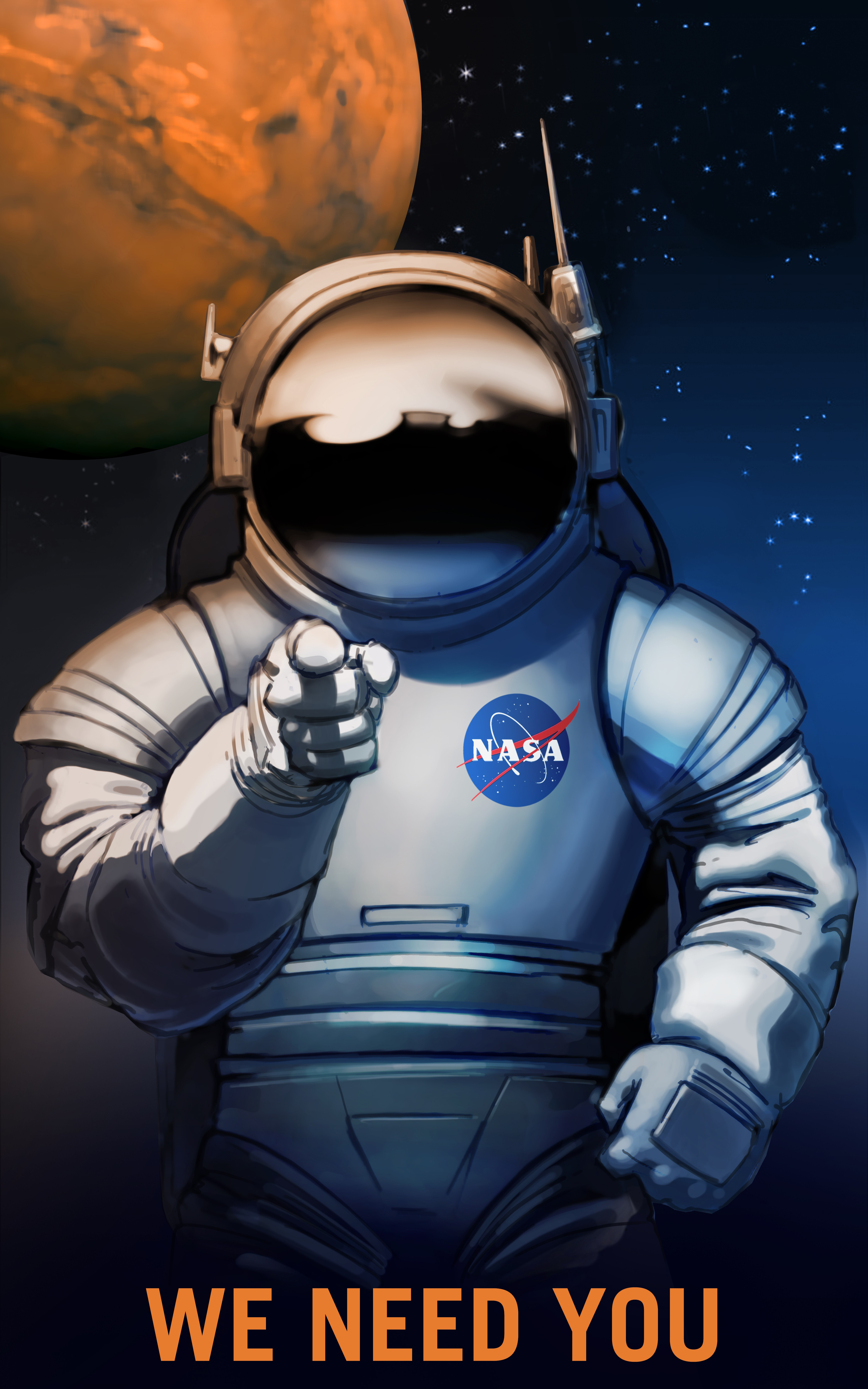 General 4500x7200 NASA Mars space suit
