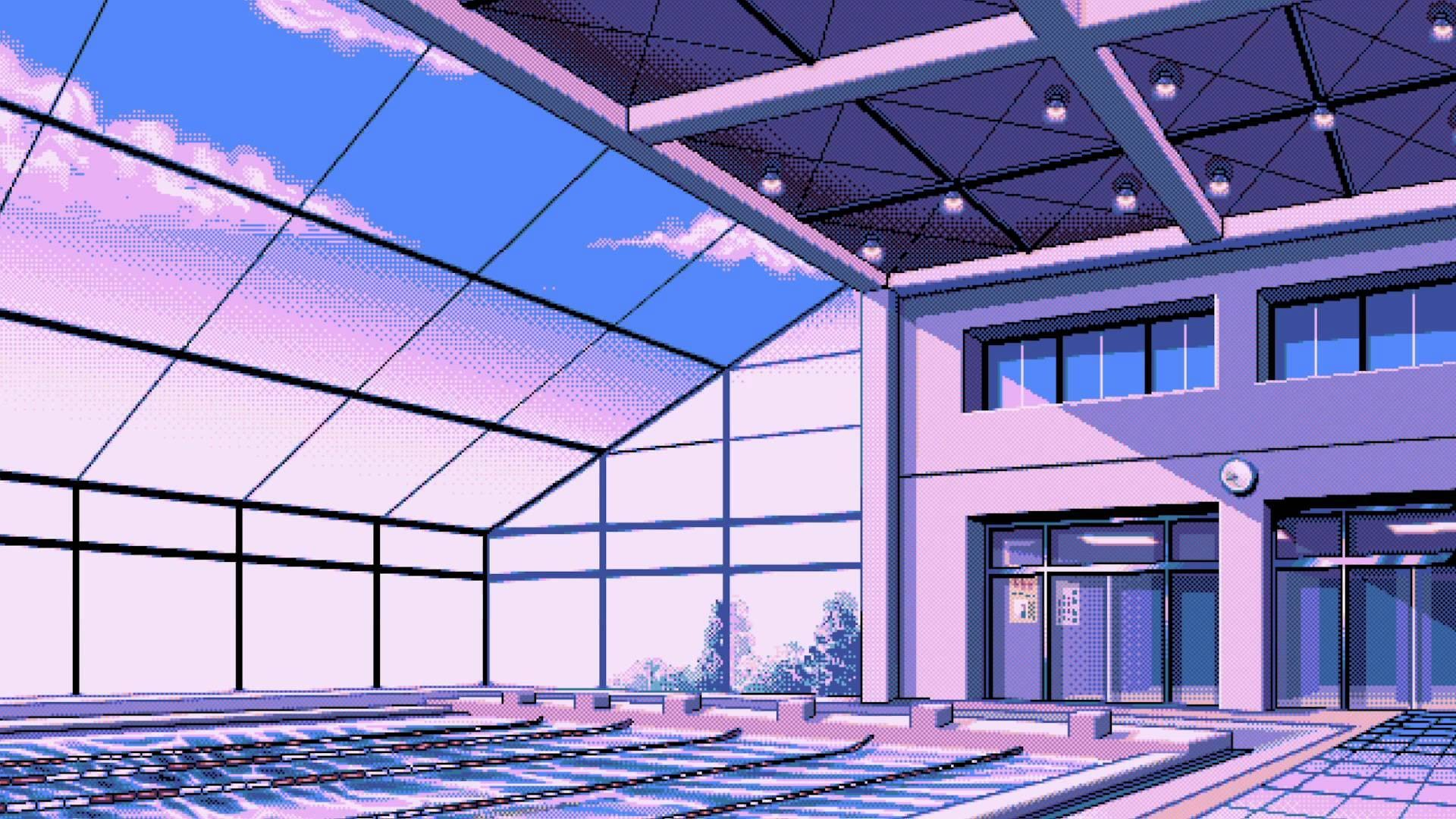 General 1920x1080 pixel art swimming pool window