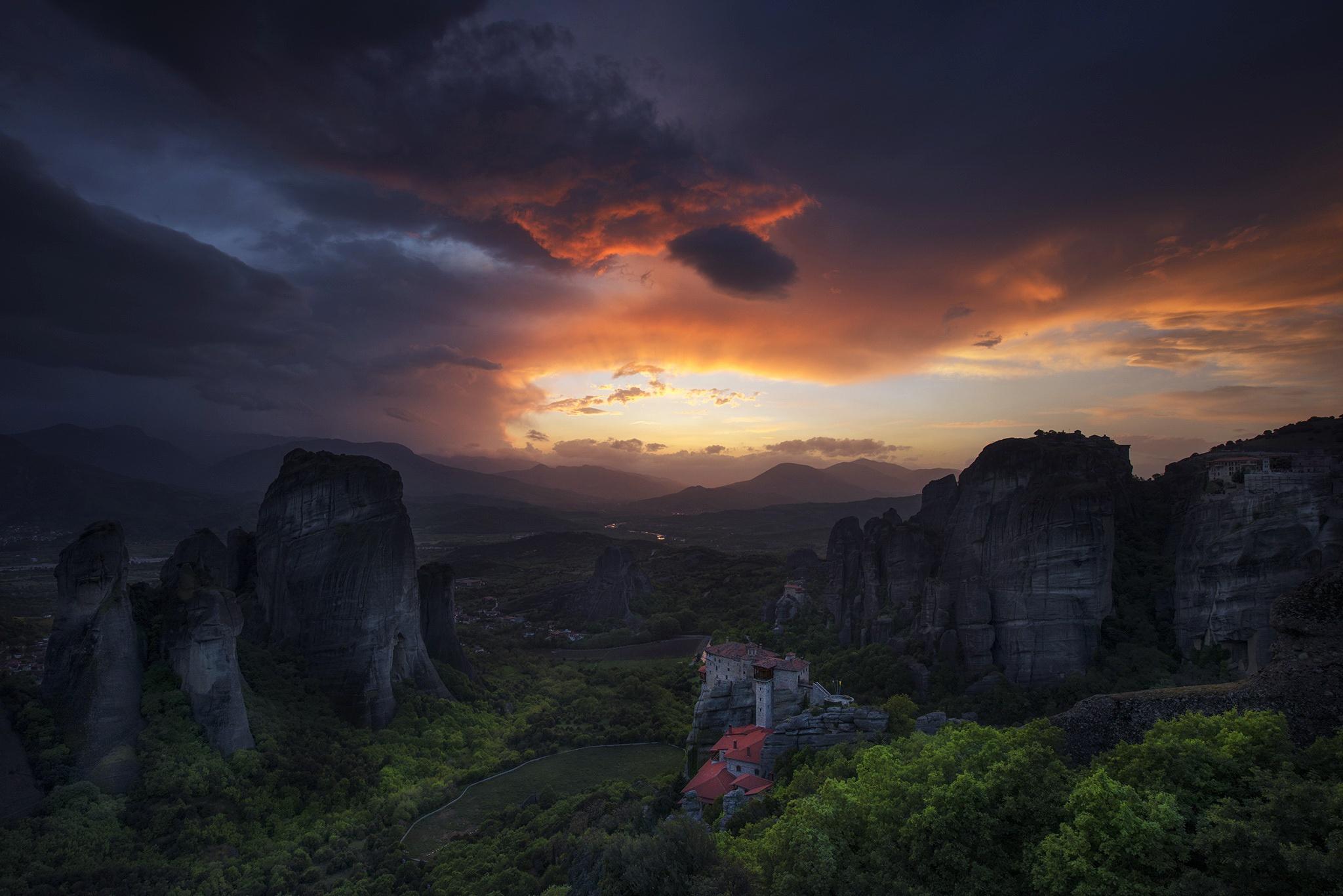 General 2048x1367 sky sky sunlight Kalampaka Greece landscape nature Meteora