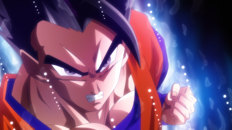 Anime 5760x3240 Dragon Ball Dragon Ball Super ultra instict  Son Gohan rmehedi Super Saiyan anime boys anime purple eyes face fist DeviantArt