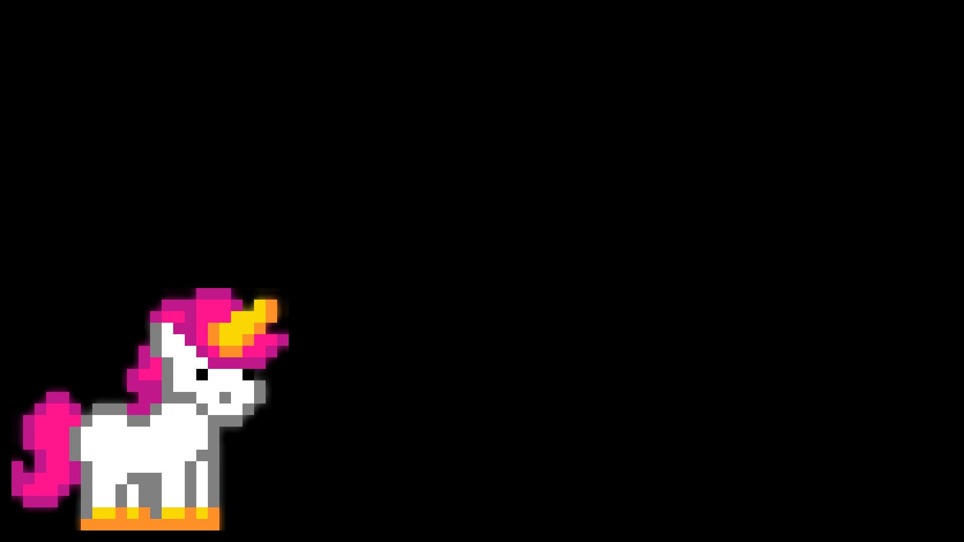 General 1920x1080 pixel art pixels unicorn unicorns minimalism