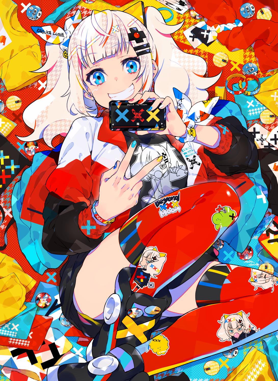 Anime 1091x1500 anime girls anime Kaguya Luna Virtual Youtuber mika pikazo
