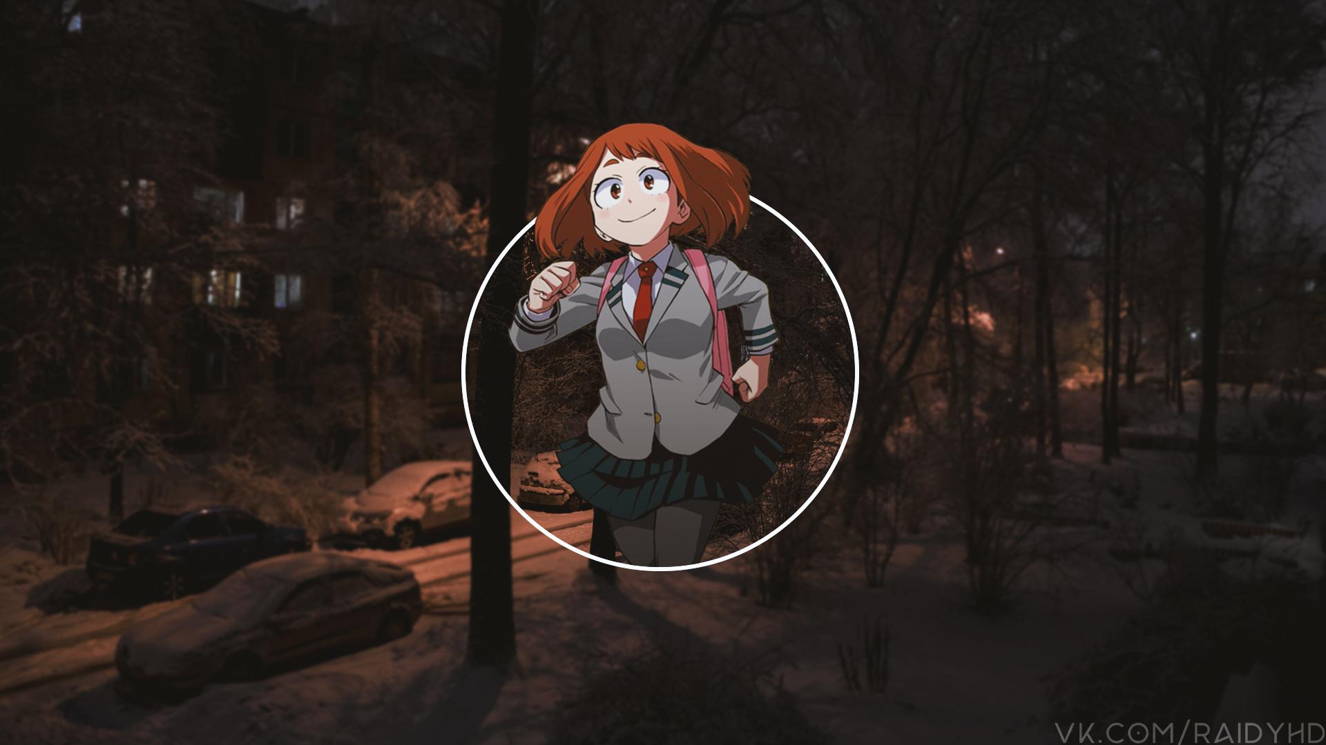 Anime 1920x1080 anime anime girls picture-in-picture Boku no Hero Academia Uraraka Ochako