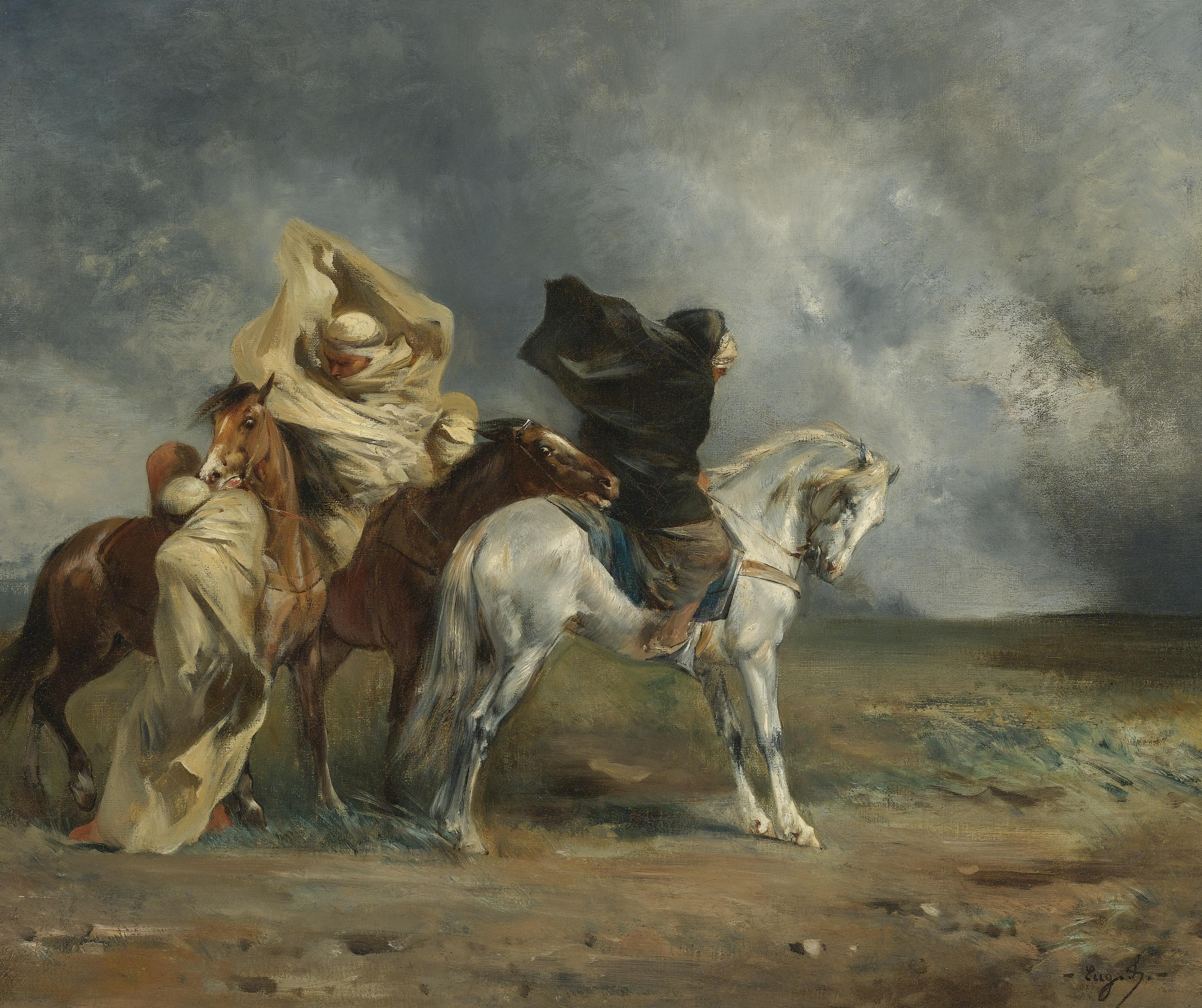 General 4000x3354 Eugene Fromentin painting classic art horse artwork