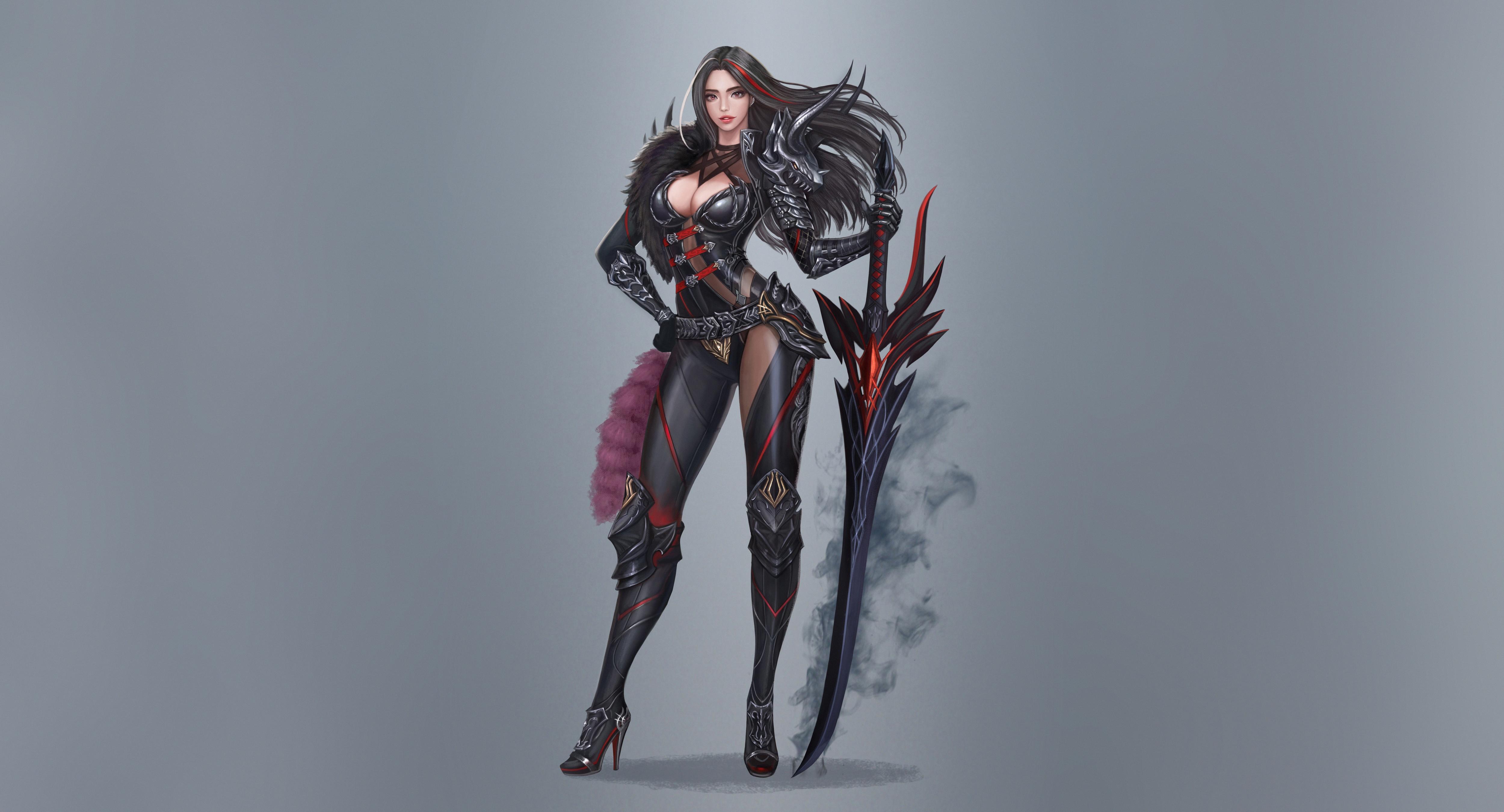 General 5000x2700 simple background fantasy art fantasy girl