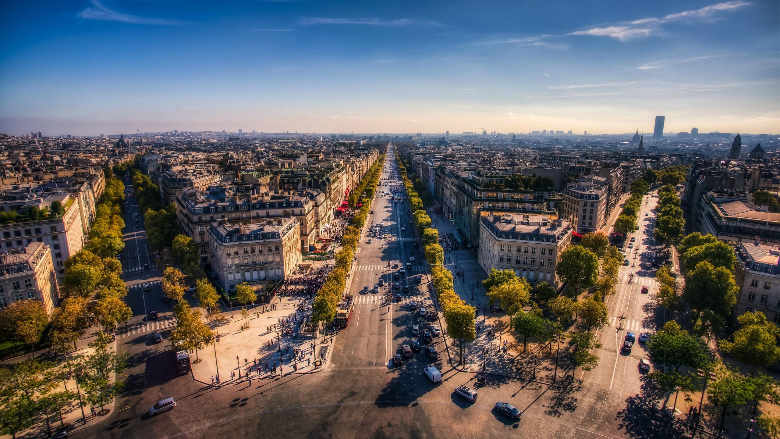 General 2560x1440 city horizon Paris France