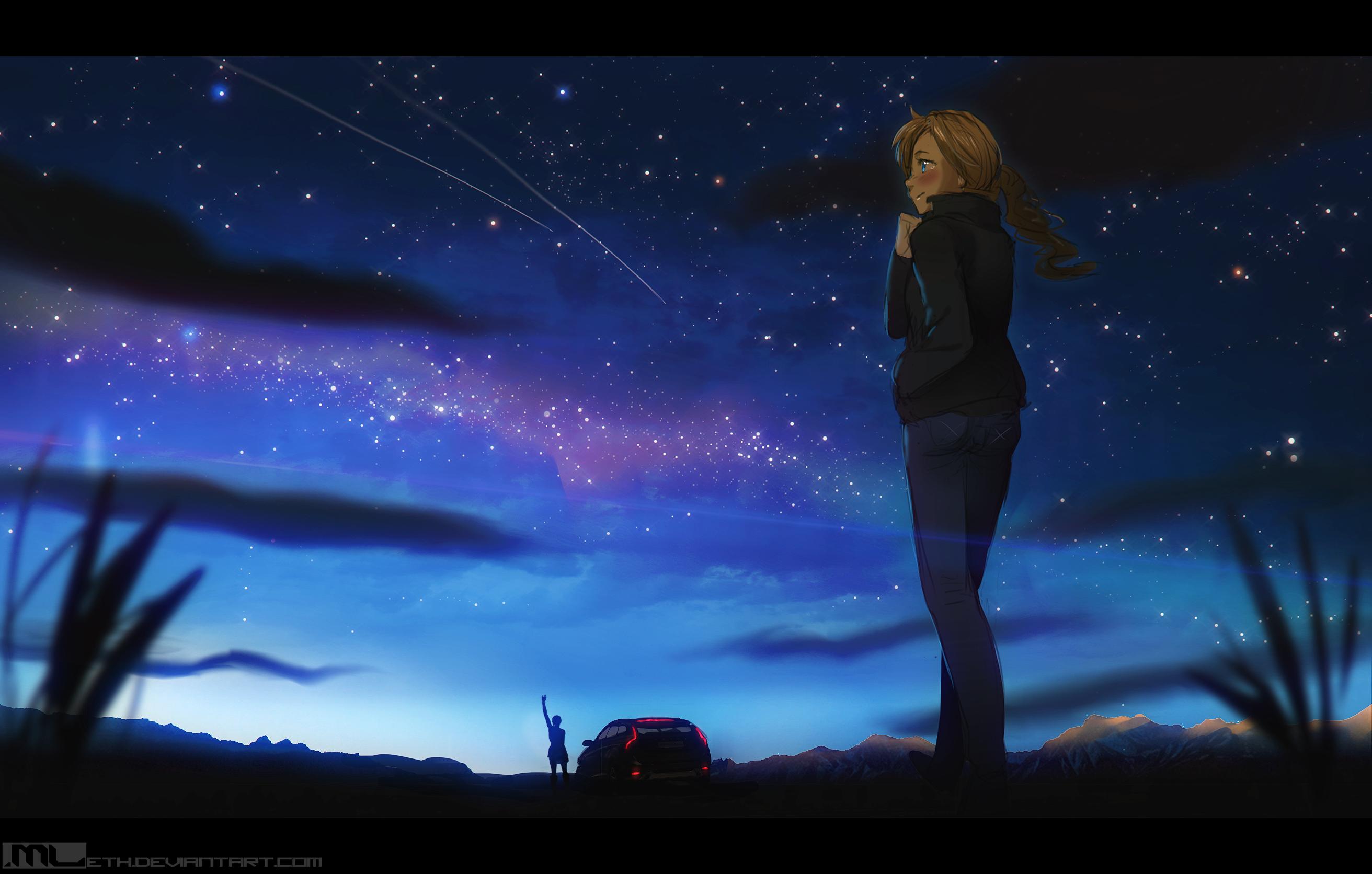 General 2624x1672 MLeth landscape anime girls anime sky