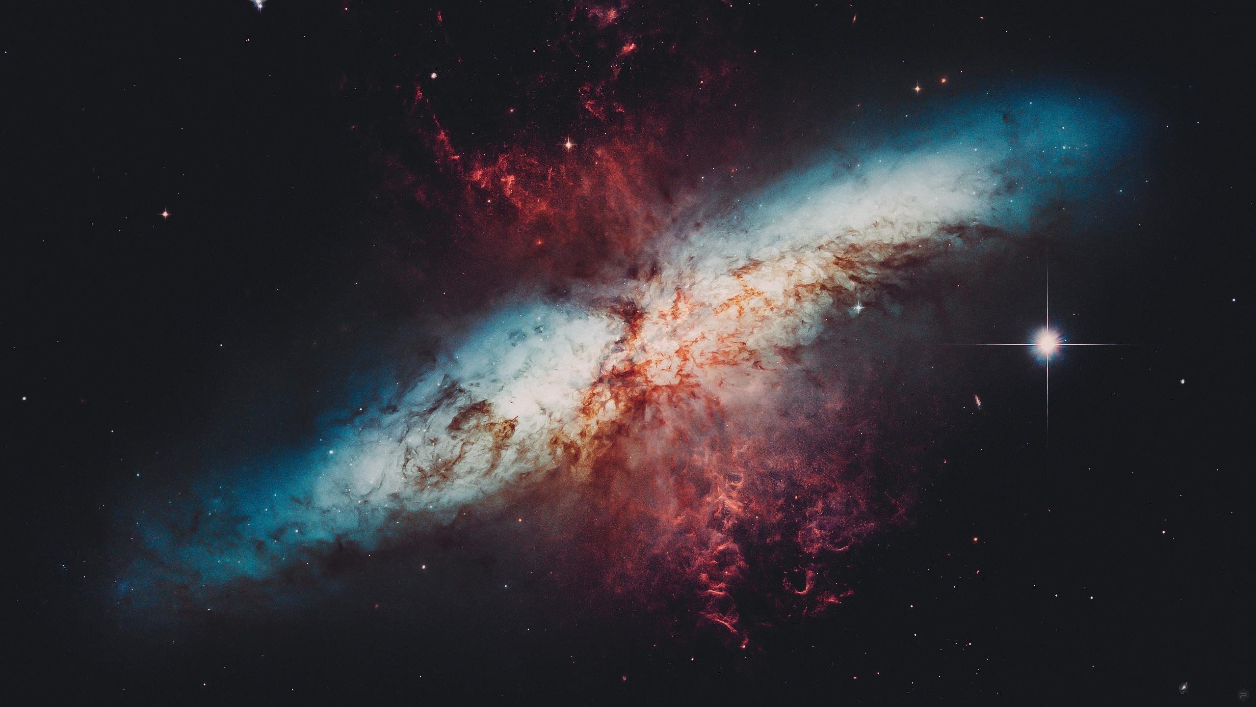General 2560x1440 NASA Messier 82 space galaxy universe