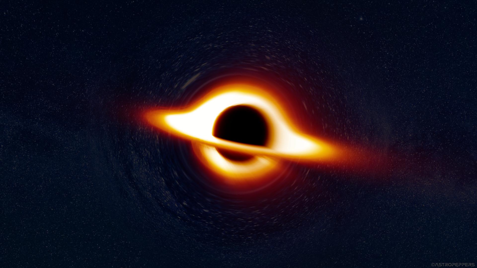 General 1920x1080 space black holes supermassive black hole Interstellar (movie) space art