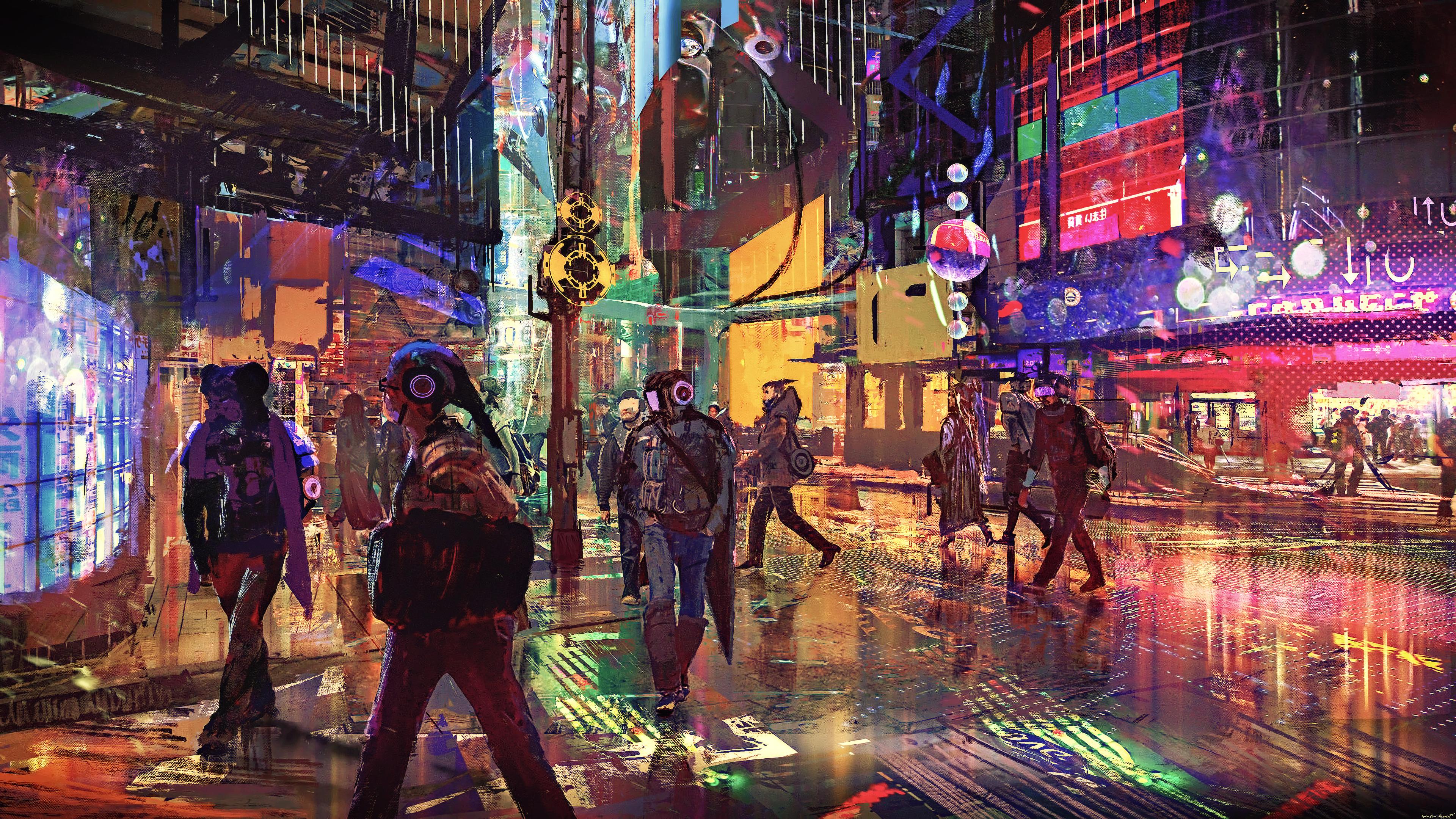 General 3840x2160 cyber science fiction digital art concept art cyberpunk artwork futuristic fantasy art fan art cityscape futuristic city CGI technology