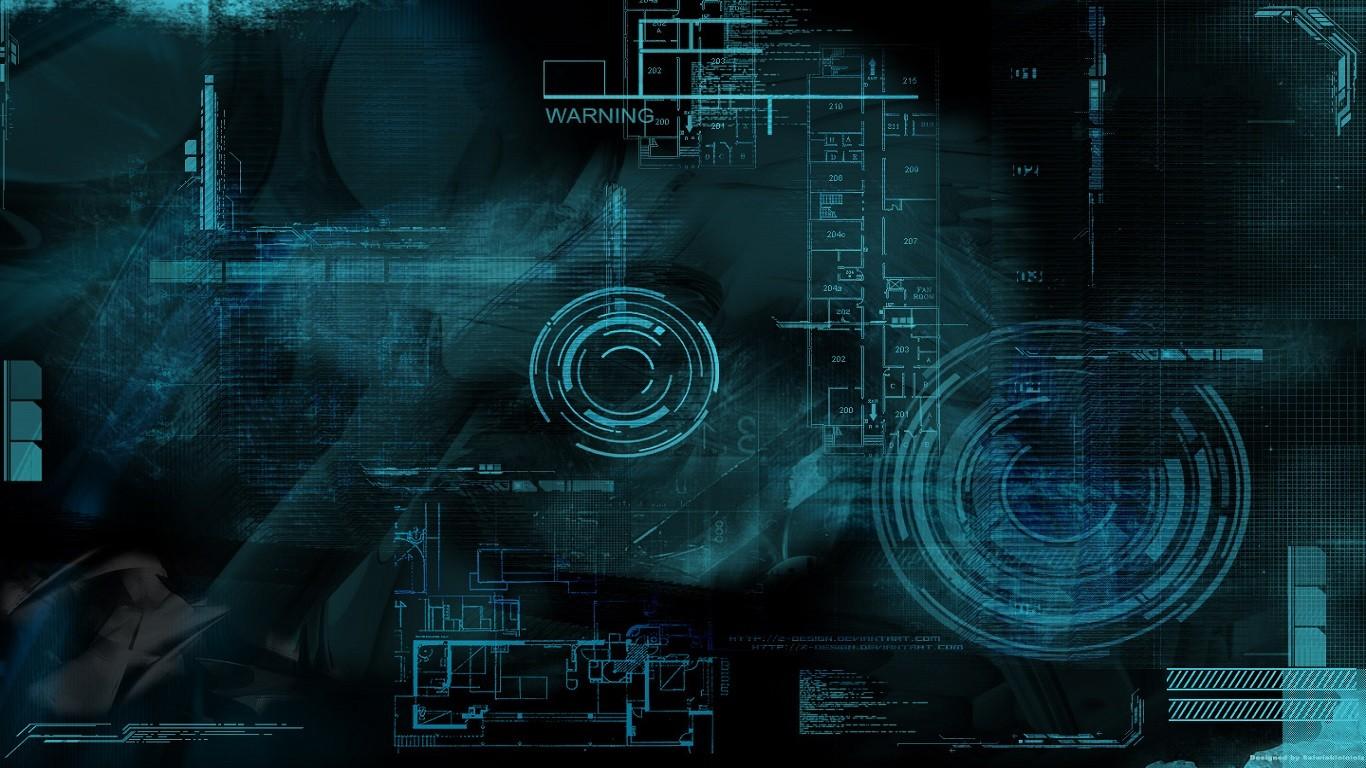 Anime 1366x768 technology digital art render