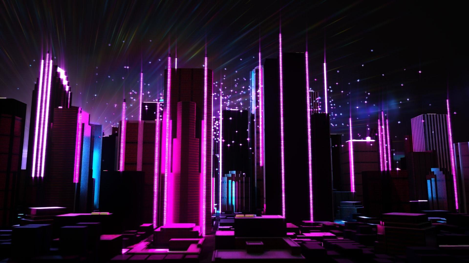 General 1920x1080 retrowave Retrowave purple purple background pink vaporwave abstract stars
