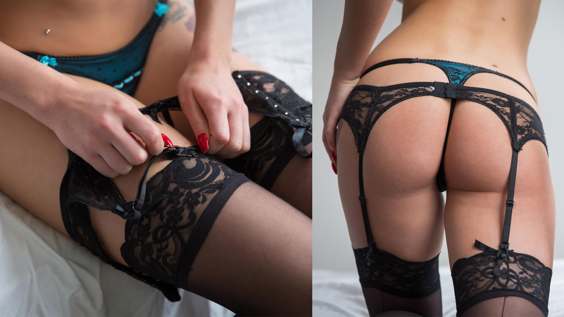 Kari Sweets White Lace Panties Nude