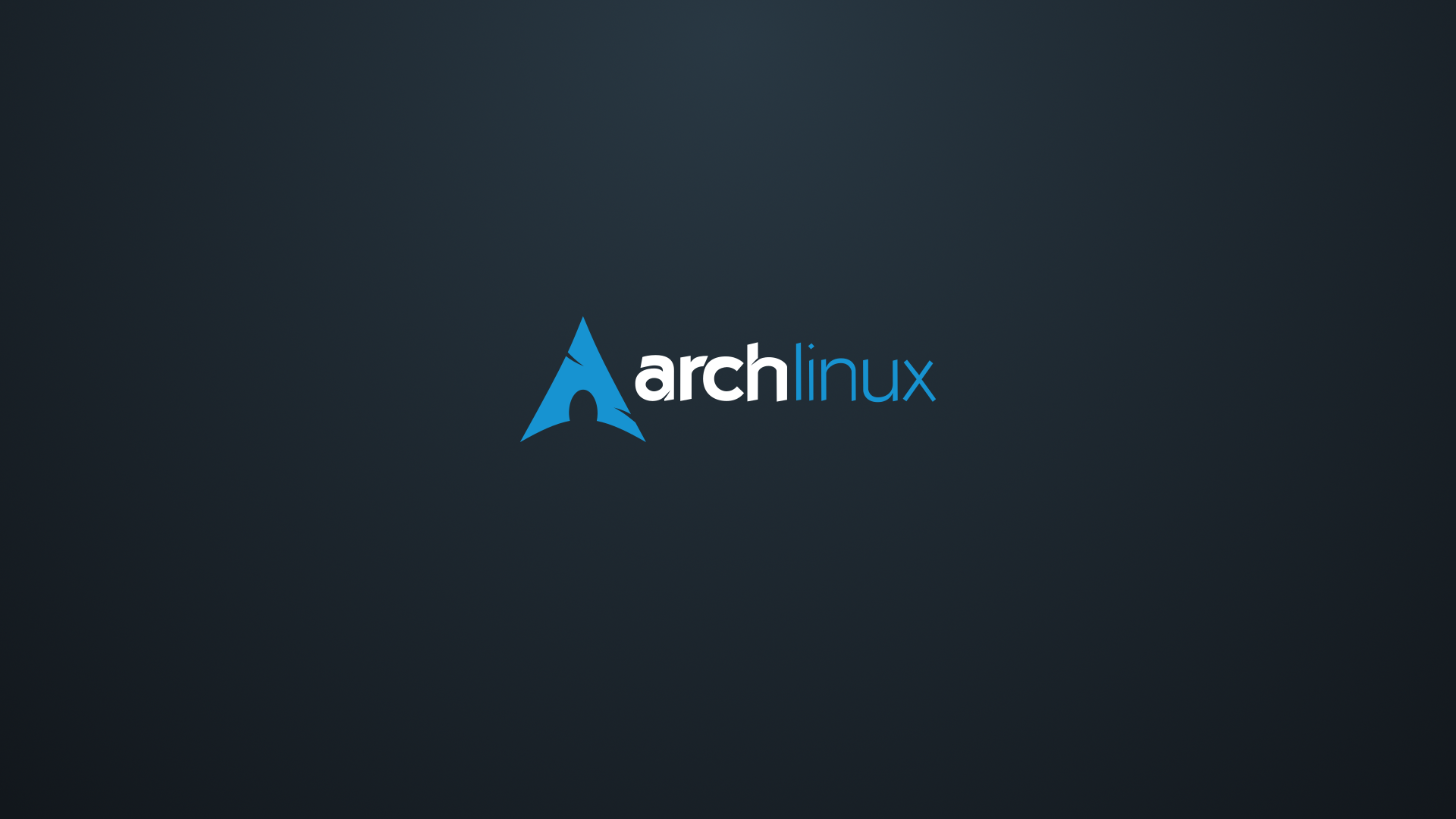 General 1920x1080 Arch Linux logo simple background operating system