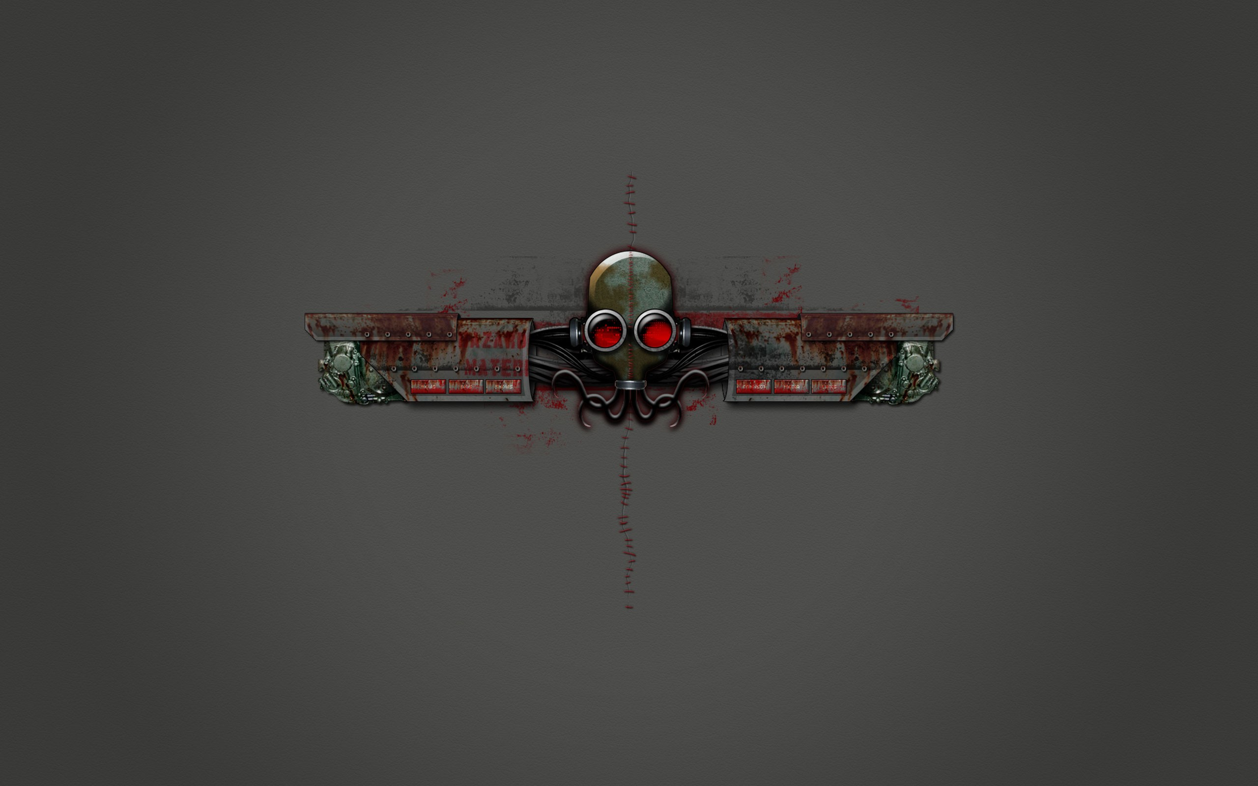 General 2560x1600 steampunk gas masks metal Stitch