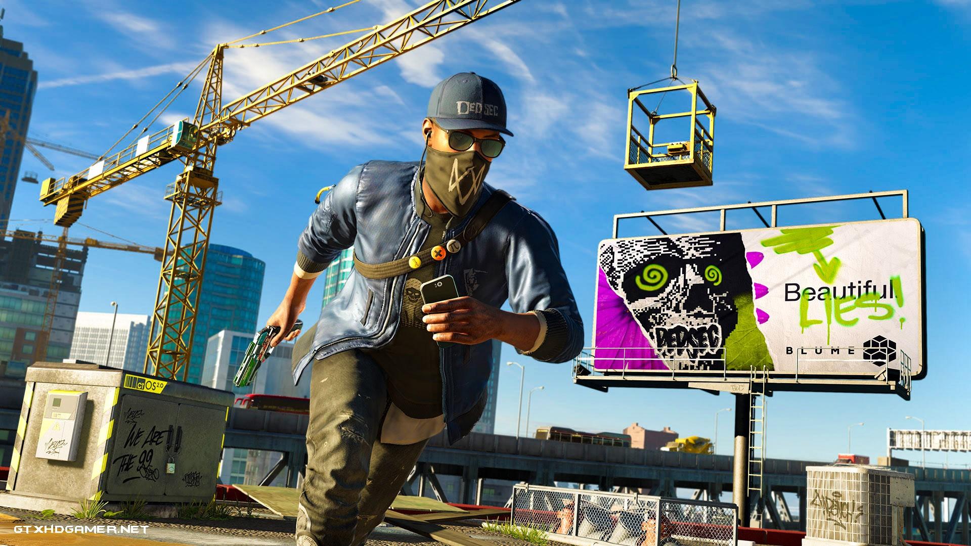General 1920x1080 Upcoming Games Watch_Dogs 2 hackers cranes (machine) billboards