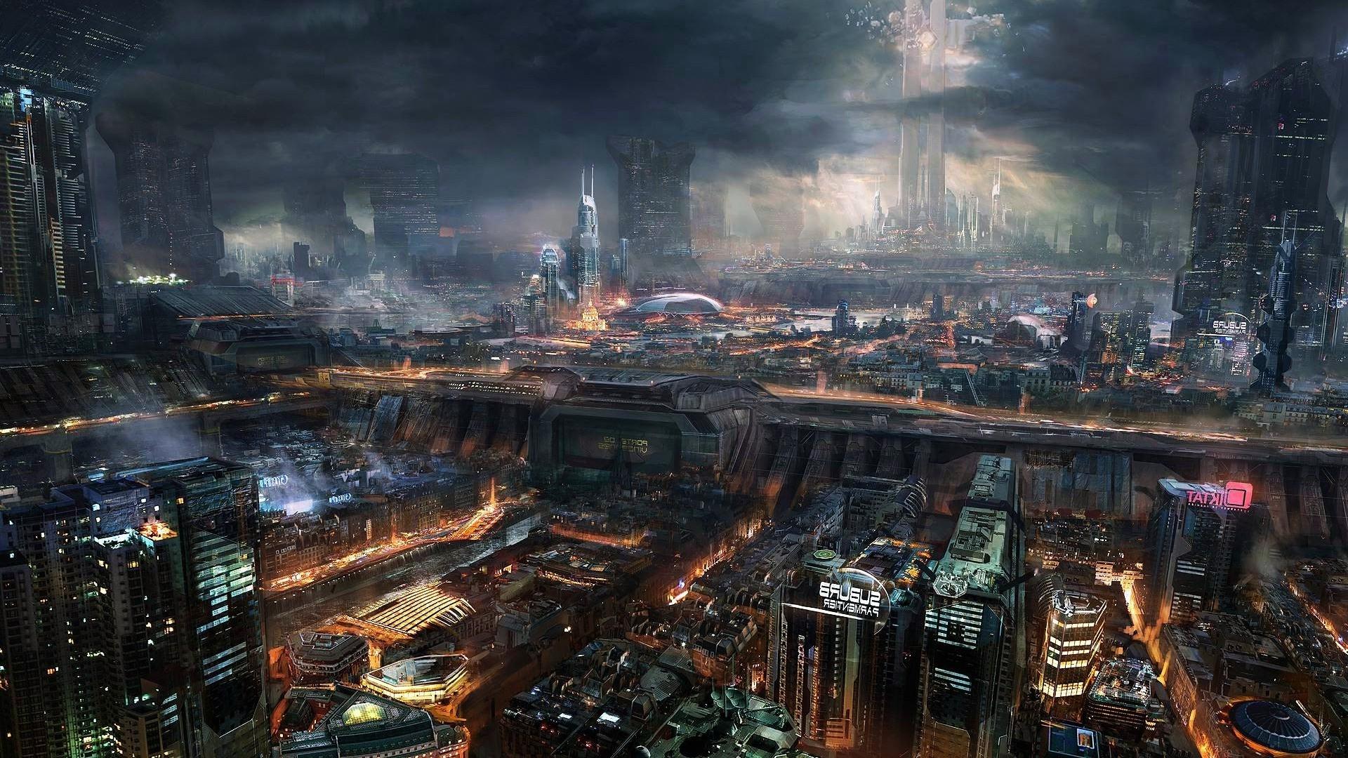 General 1920x1080 cyberpunk futuristic futuristic city cityscape