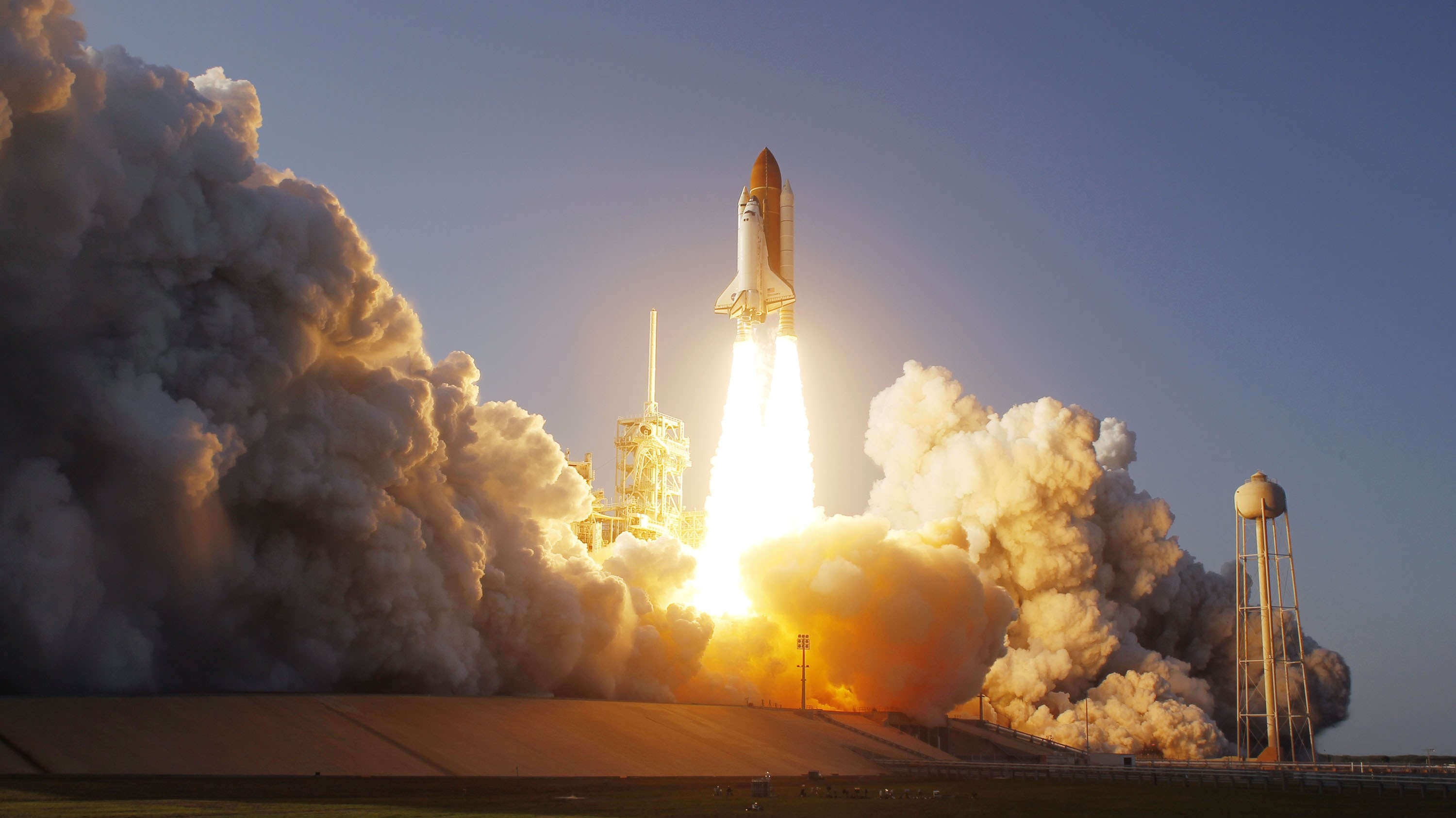 General 3000x1686 spaceship NASA lift off space shuttle space smoke launch pads