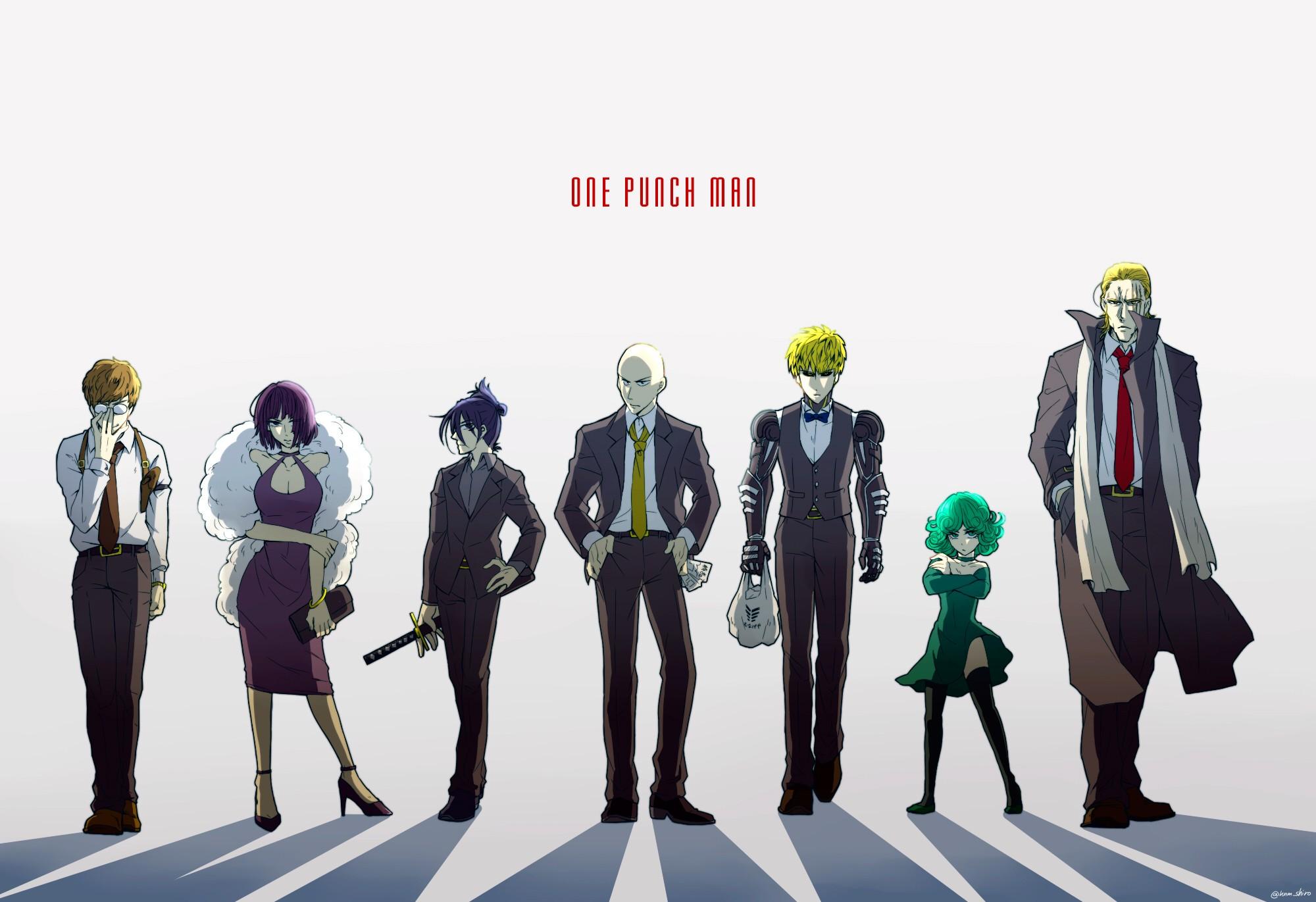 Anime 2000x1371 One-Punch Man Saitama Genos Fubuki Tatsumaki Mumen Rider Sonic (One Punch Man) anime