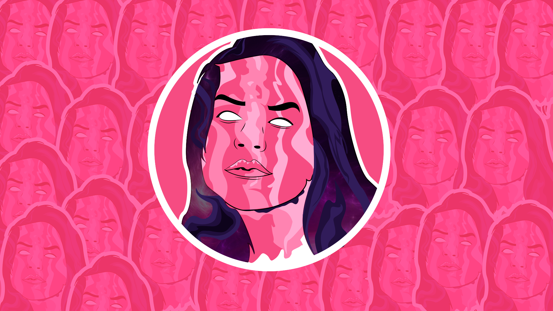 General 1920x1080 vector art pink face women