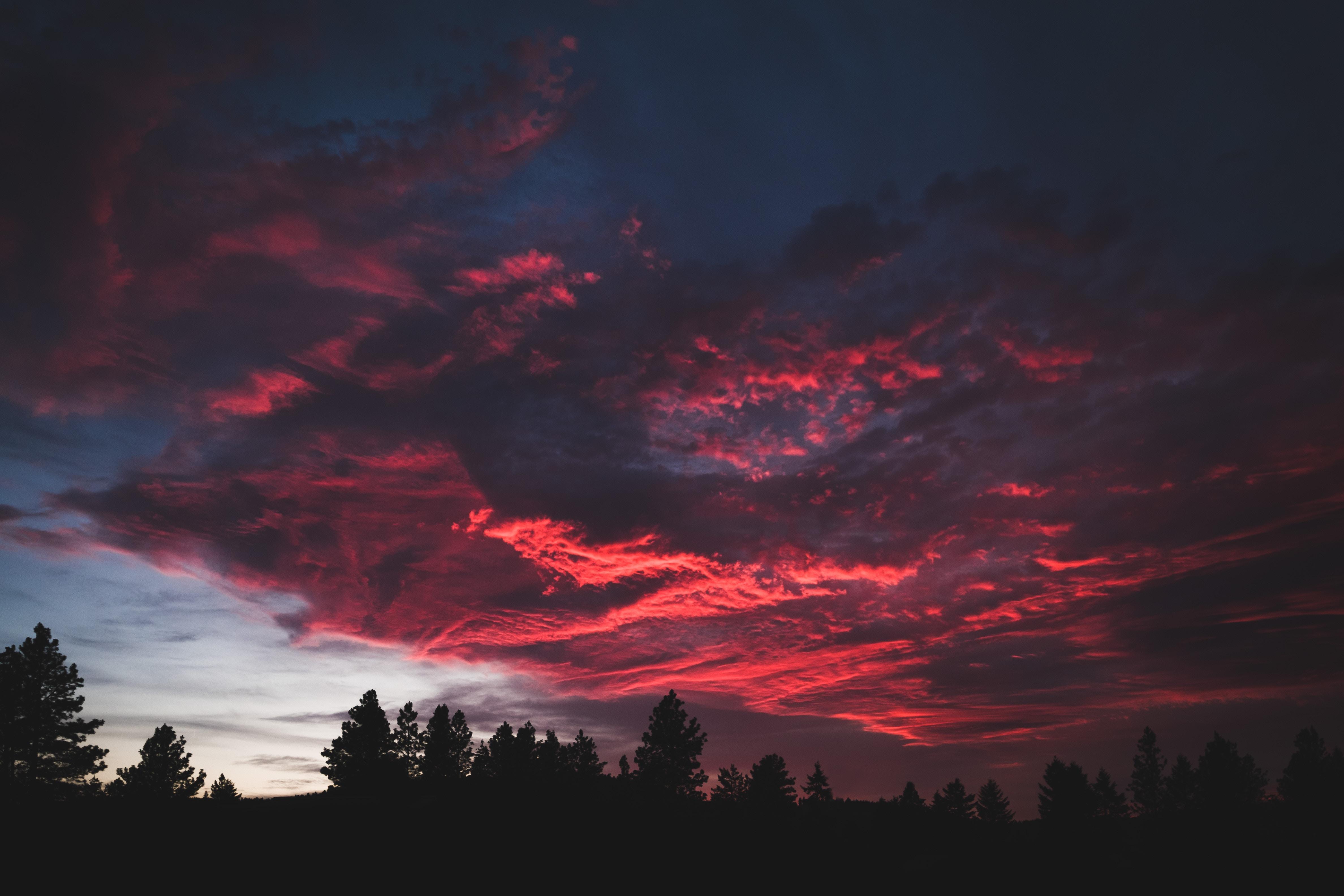 General 4752x3168 sky forest colorful sunset dark nature landscape