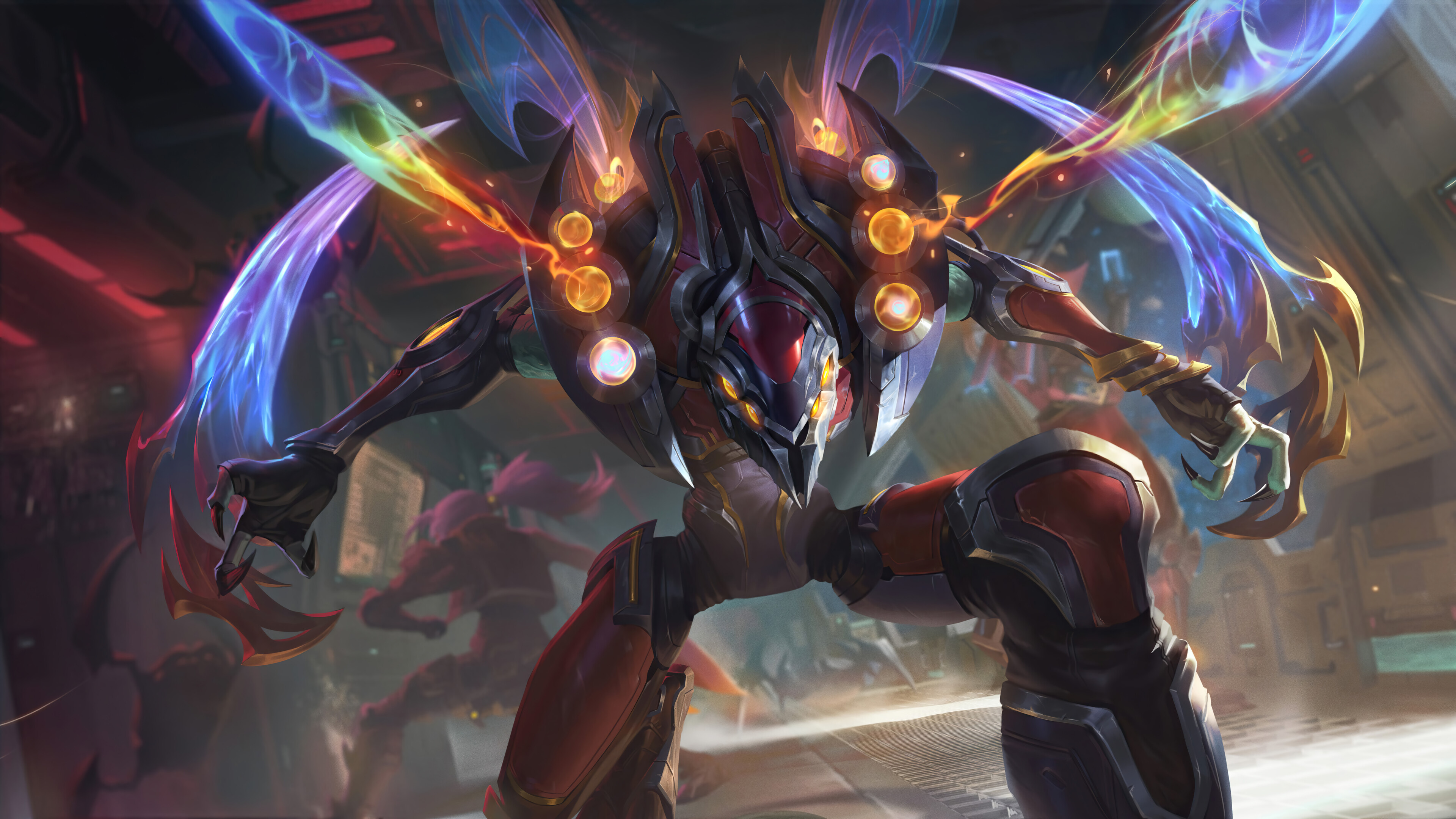 General 3840x2160 Kha'Zix The Odyssey League of Legends Riot Games space galaxy Guardians of the Galaxy