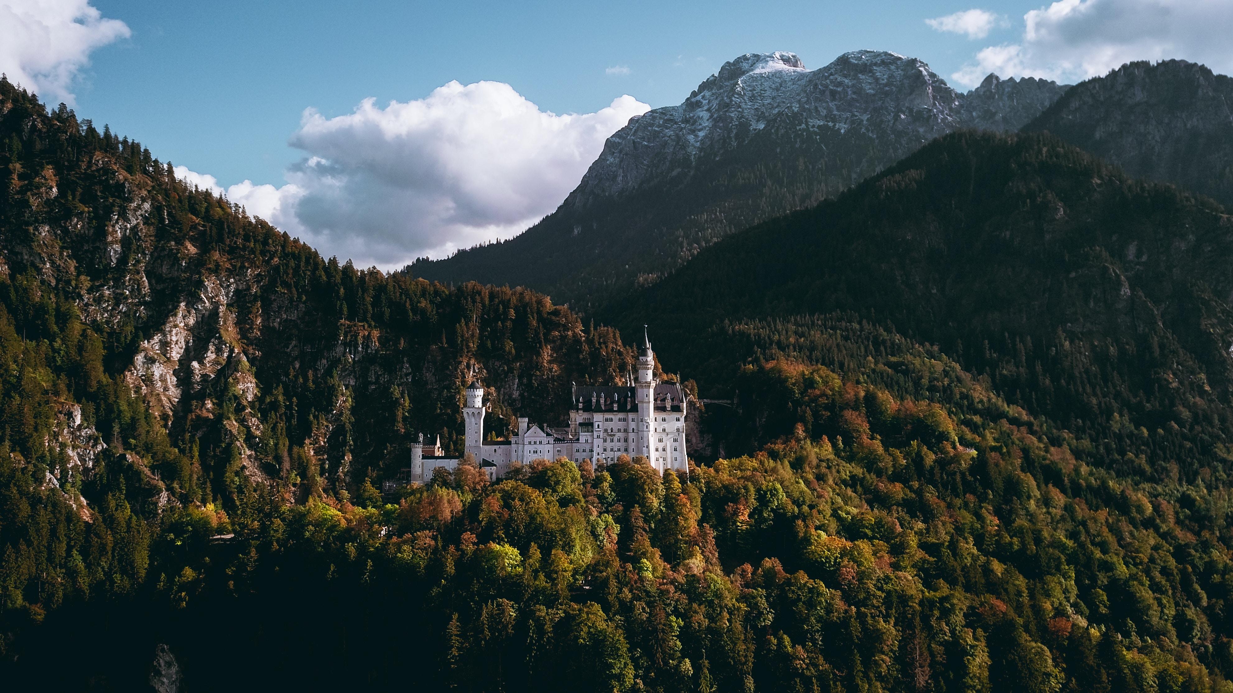 General 3964x2230 landscape forest mountains castle clouds Neuschwanstein Castle Germany