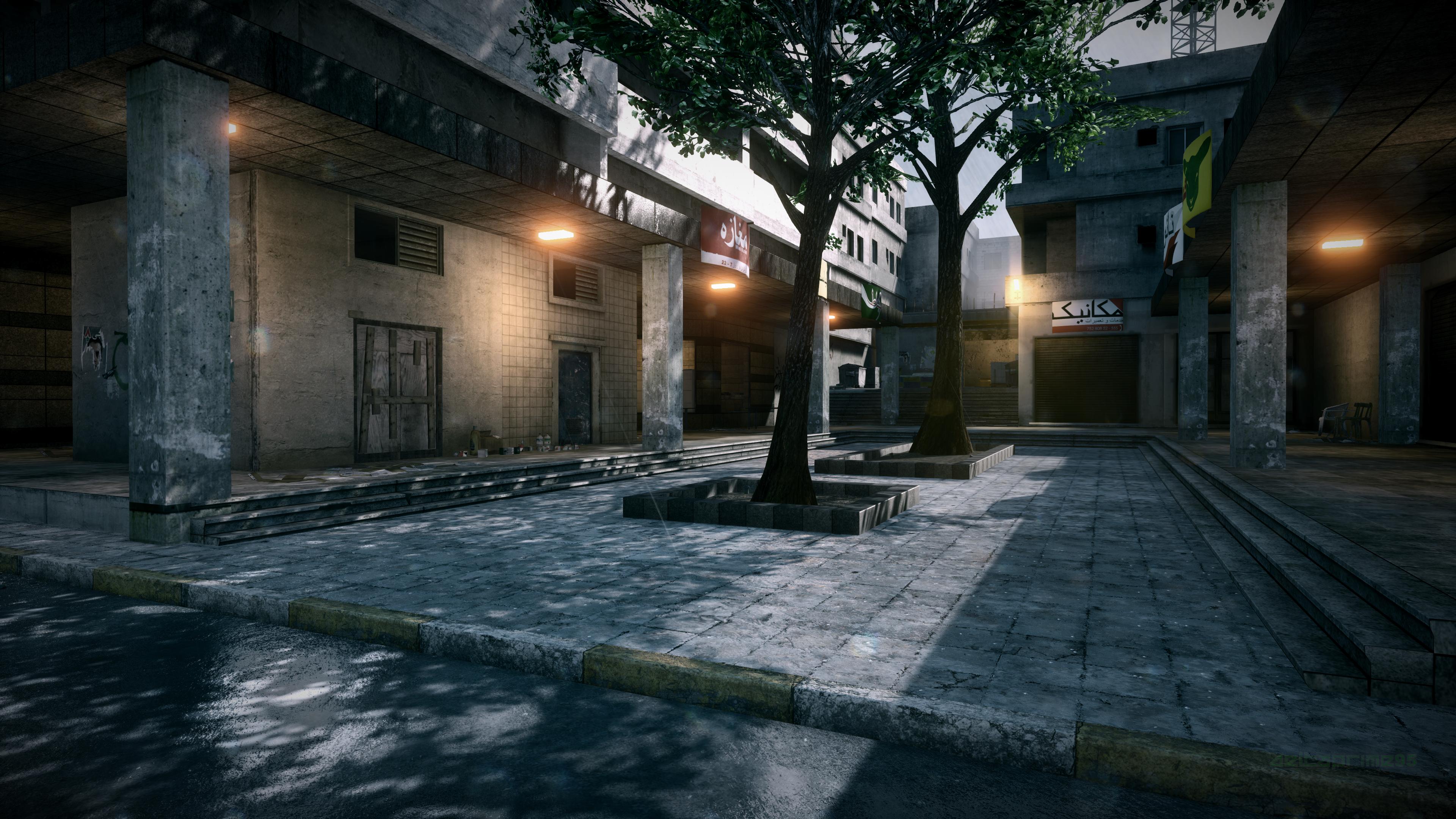 General 3840x2160 PC gaming screen shot video games in-game Battlefield city Grand Bazaar Tehran Battlefield 3 rain