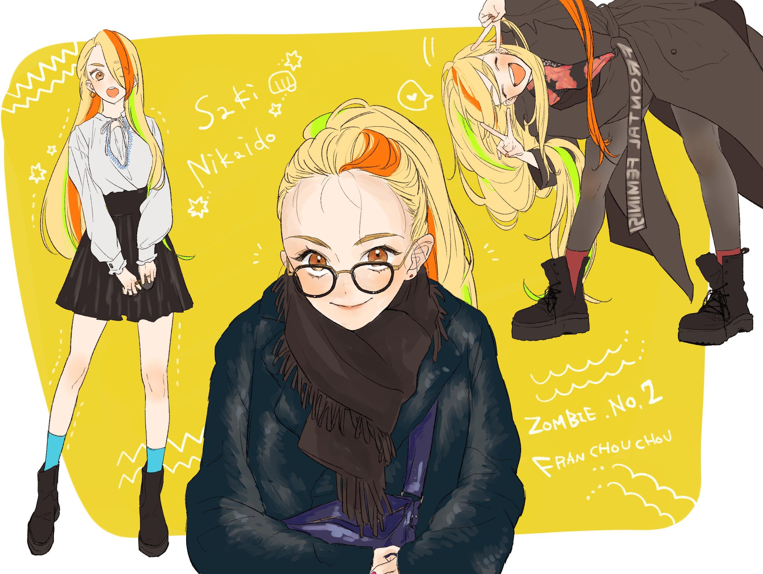 Anime 2659x2000 Zombieland Saga anime girls school uniform Zombie 2 / Saki Nikaidou