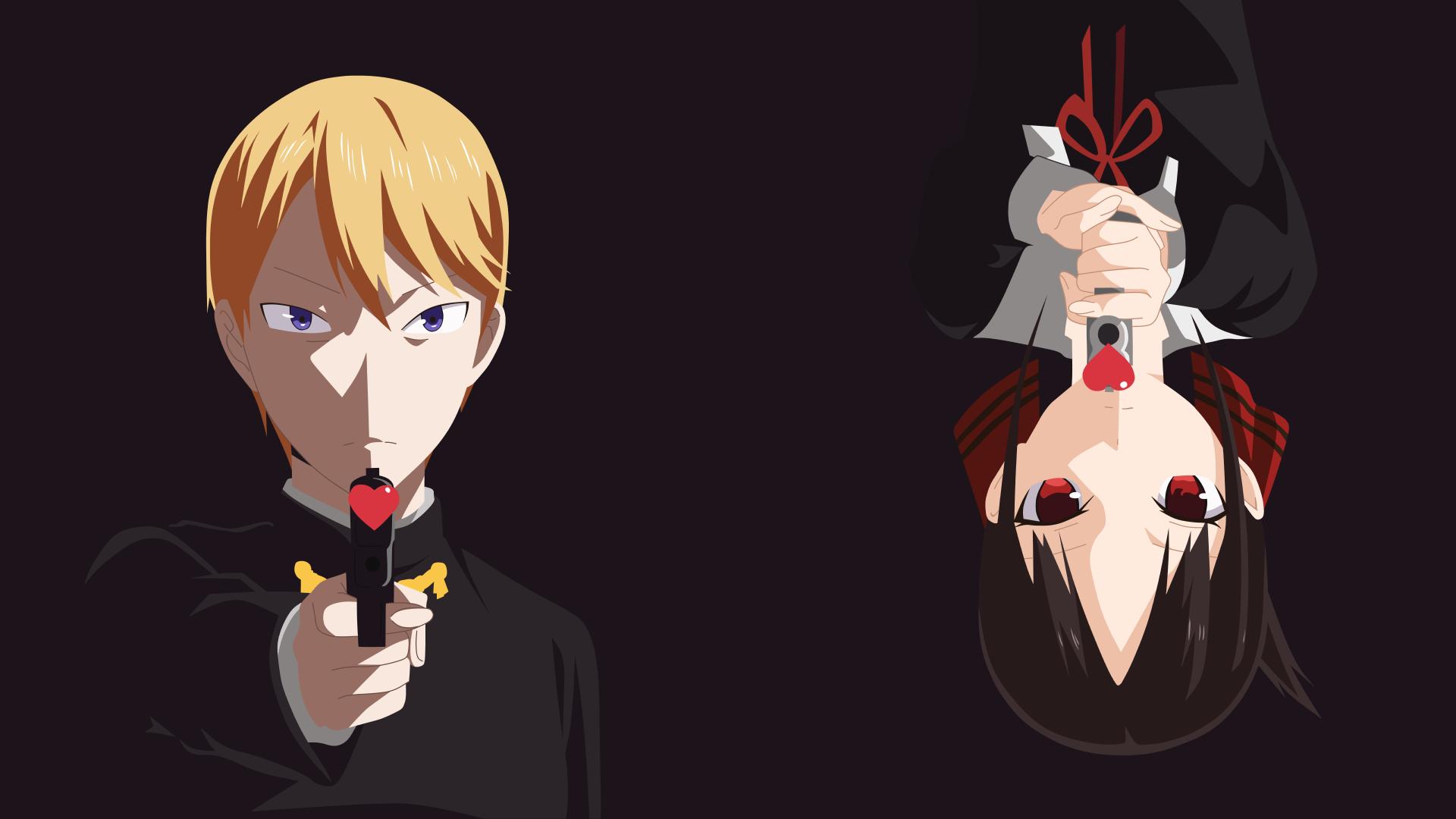 Anime 1920x1080 Kaguya-Sama: Love is War Kaguya Shinomiya anime girls anime gun anime boys Shirogane Miyuki