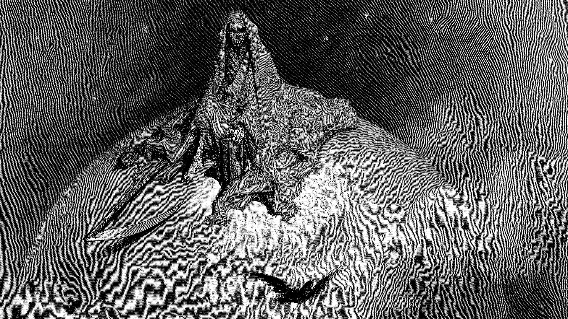 General 1920x1080 Gustave Doré illustration classic art death lithograph
