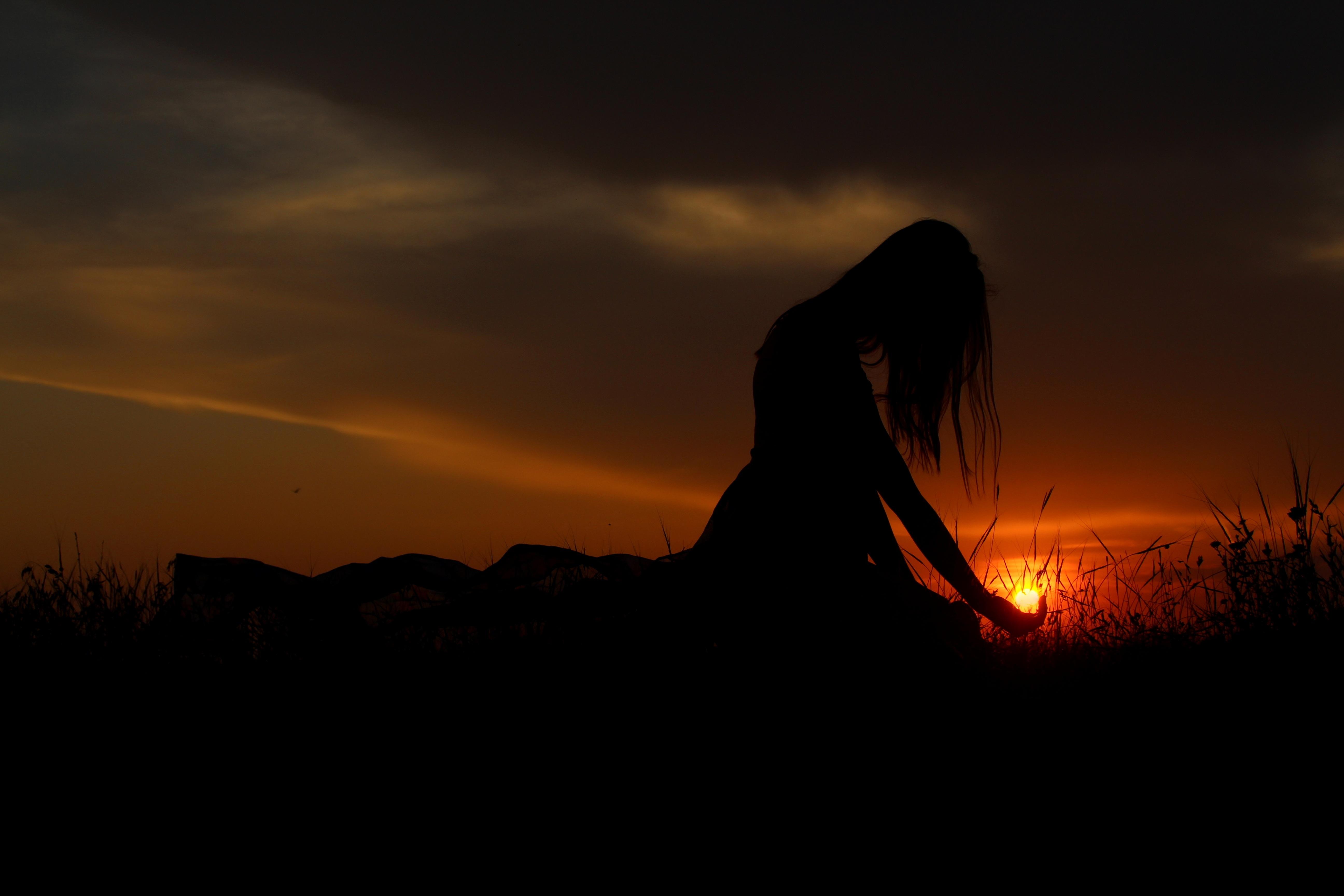 General 5184x3456 women silhouette dark shadow Sun sunset arms