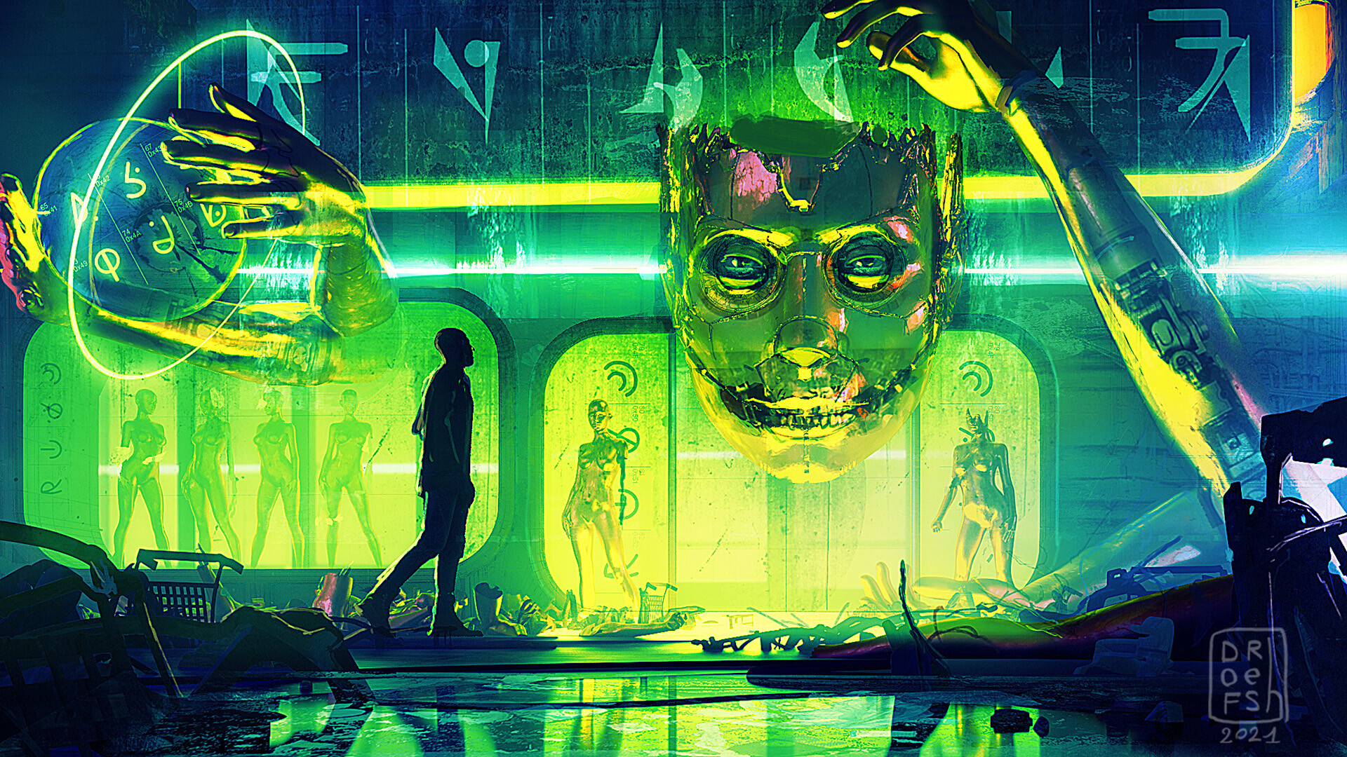 General 1920x1080 artwork science fiction cyberpunk