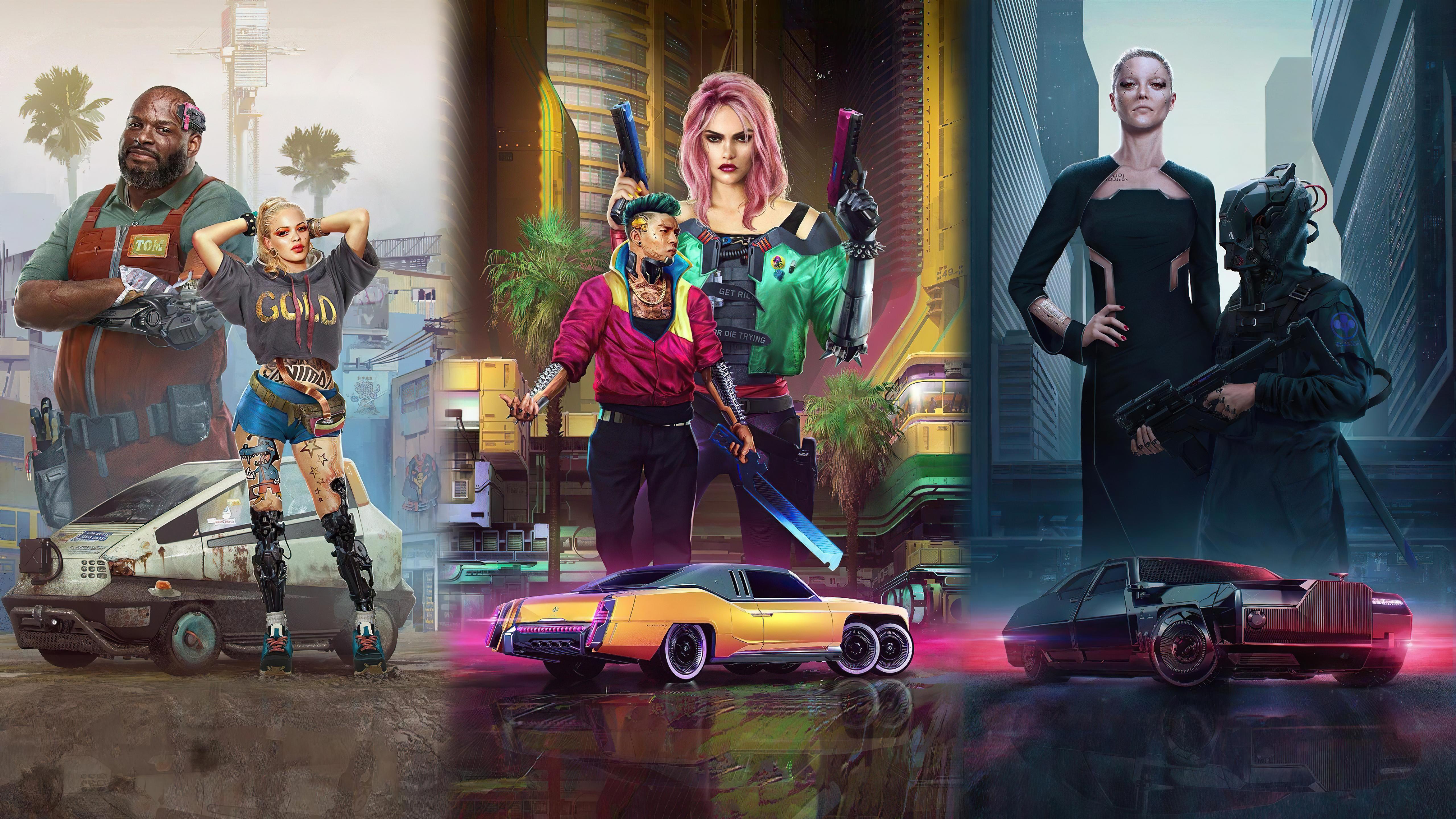 General 5120x2880 cyberpunk Cyberpunk 2077 4K science fiction