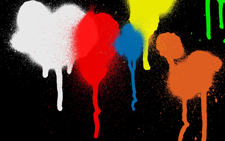 General 2880x1800 graffiti splats splatter Color Burst colorful black minimalism simple simple background