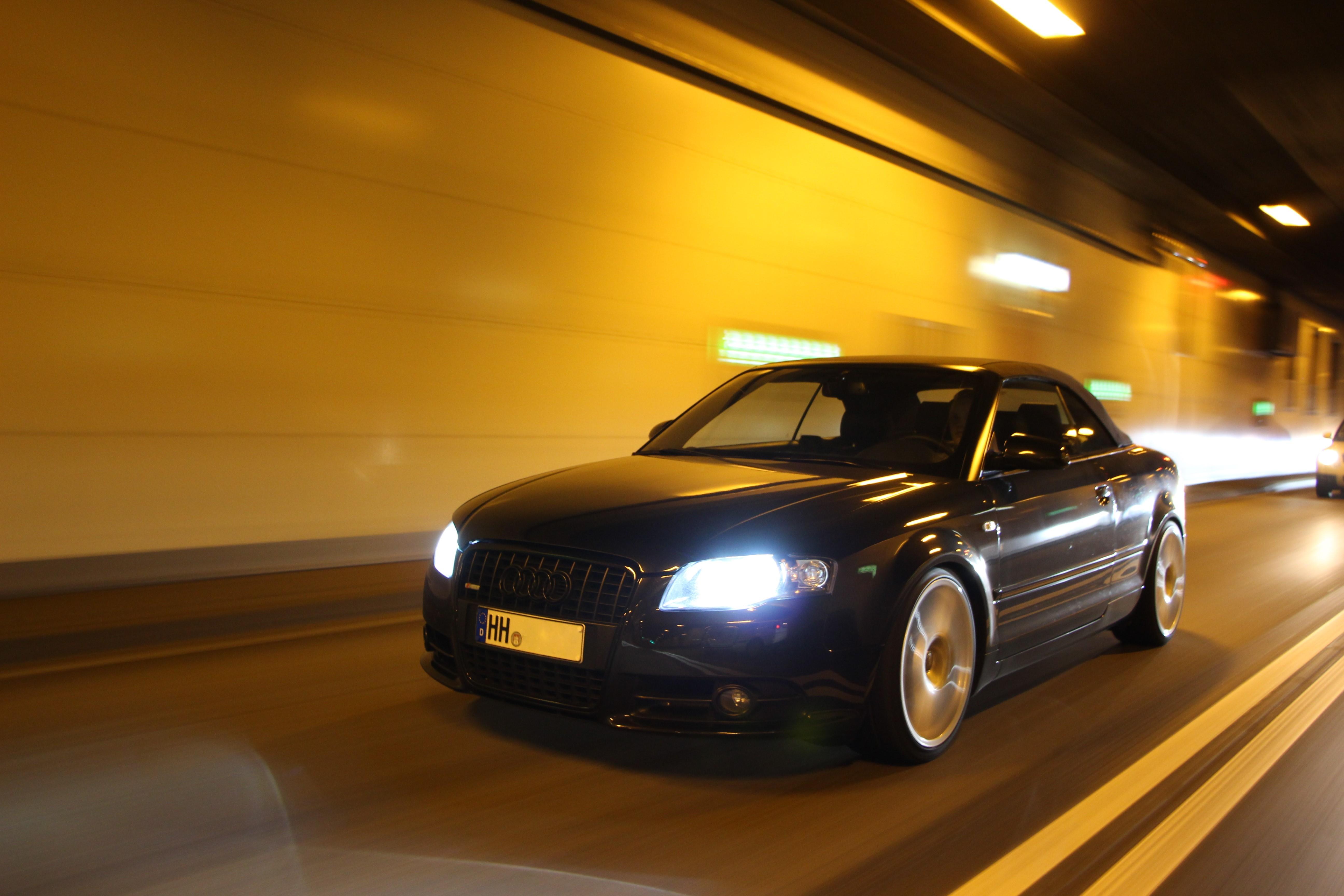 General 5184x3456 Hamburg night car Audi a4 front angle view