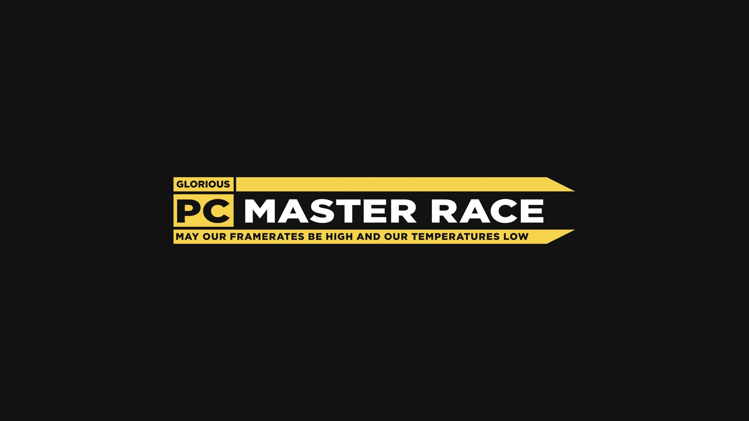 General 2560x1440 PC gaming text minimalism humor