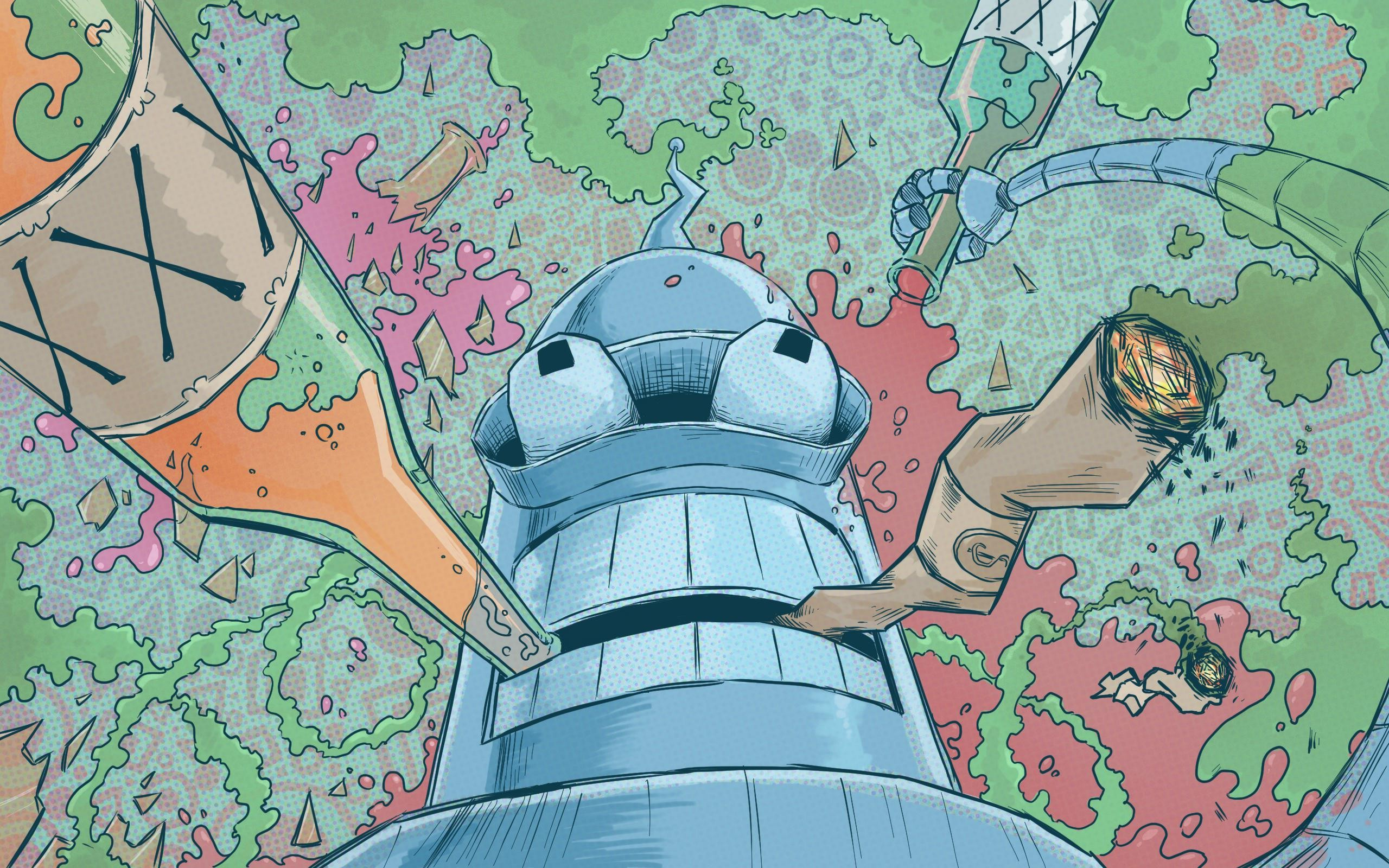 General 2560x1600 Bender Futurama fan art artwork colorful humor alcohol joints