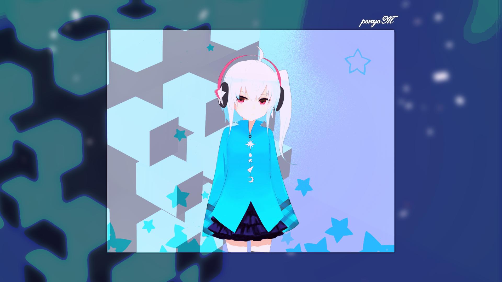 Anime 1920x1080 bilibili anime girls cube simple background artwork