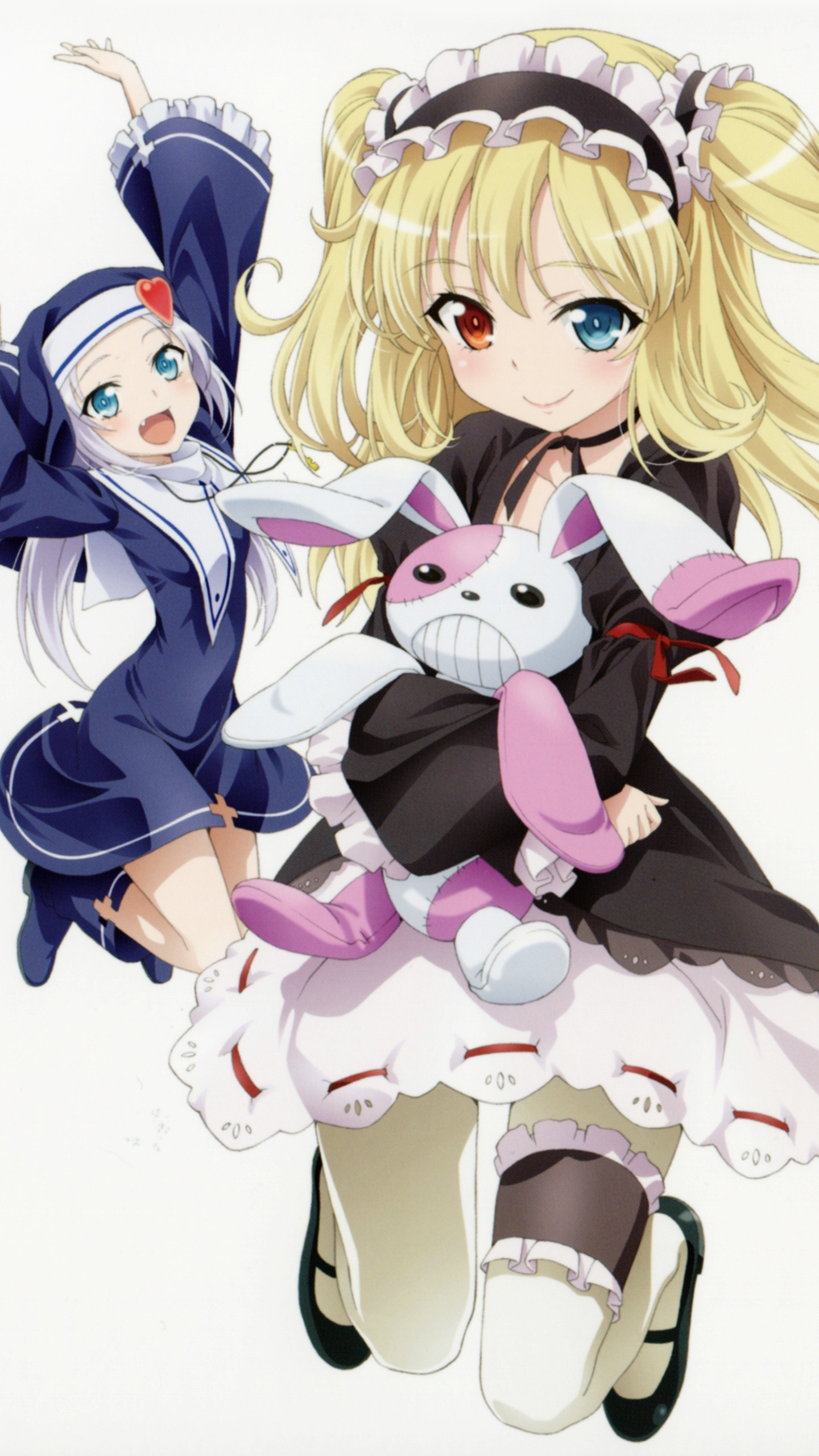 Anime 1440x2560 loli anime girls Hasegawa Kobato Takayama Maria Boku wa Tomodachi ga Sukunai heterochromia twintails gothic lolita