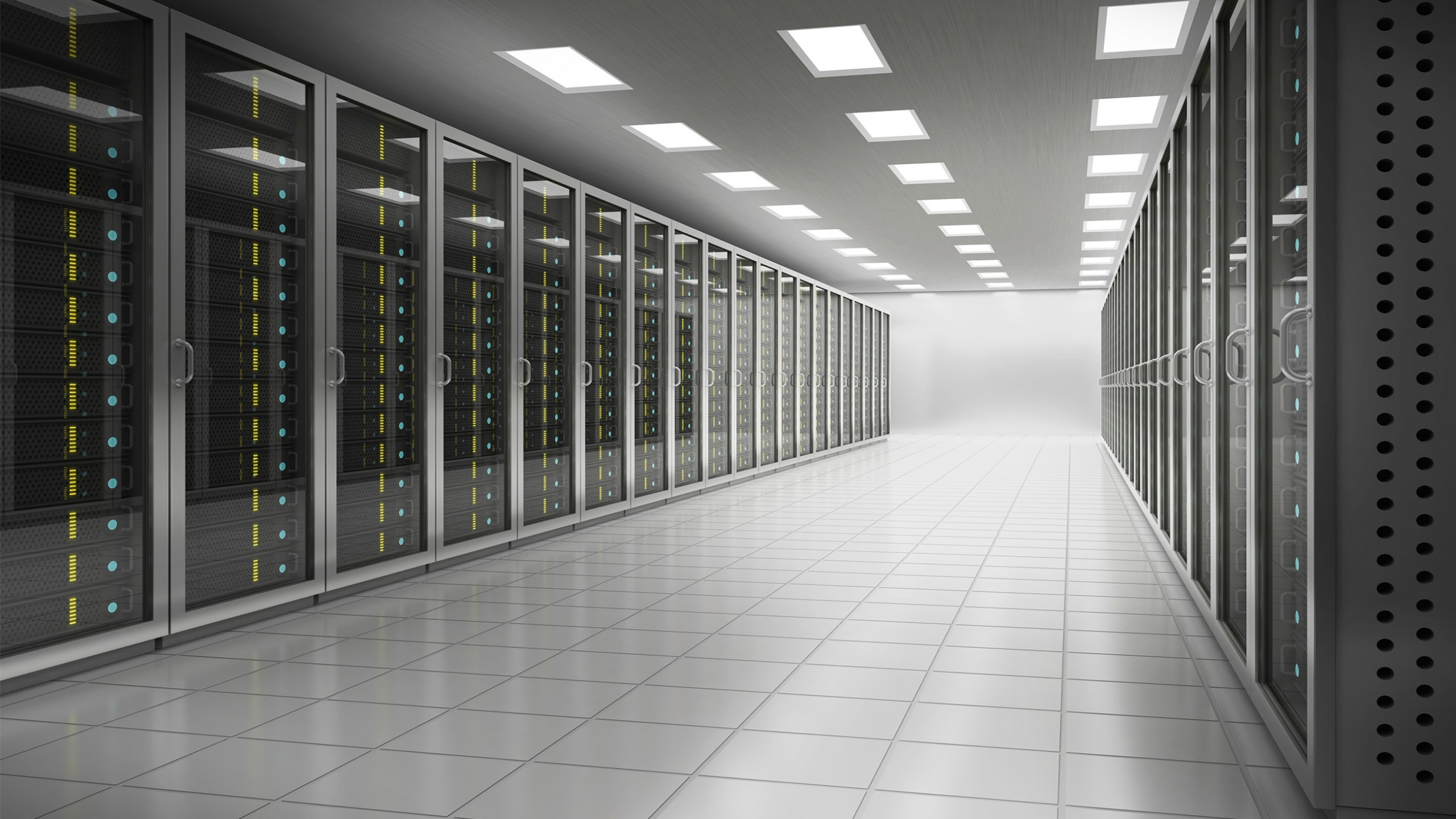 General 2560x1440 server lights glass tiles technology Hi-Tech room architecture door data center gray