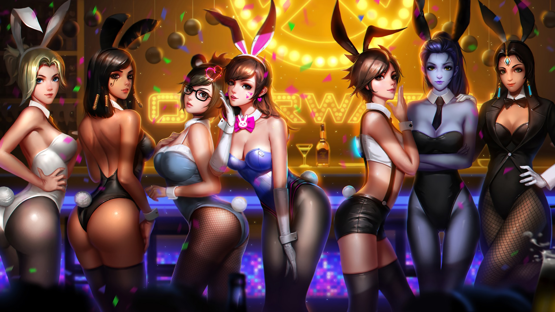 General 1920x1080 Overwatch Anniversary Overwatch Mercy (Overwatch) Pharah (Overwatch) Mei (Overwatch) D.Va (Overwatch) Tracer (Overwatch) Widowmaker (Overwatch) Symmetra (Overwatch) video game girls