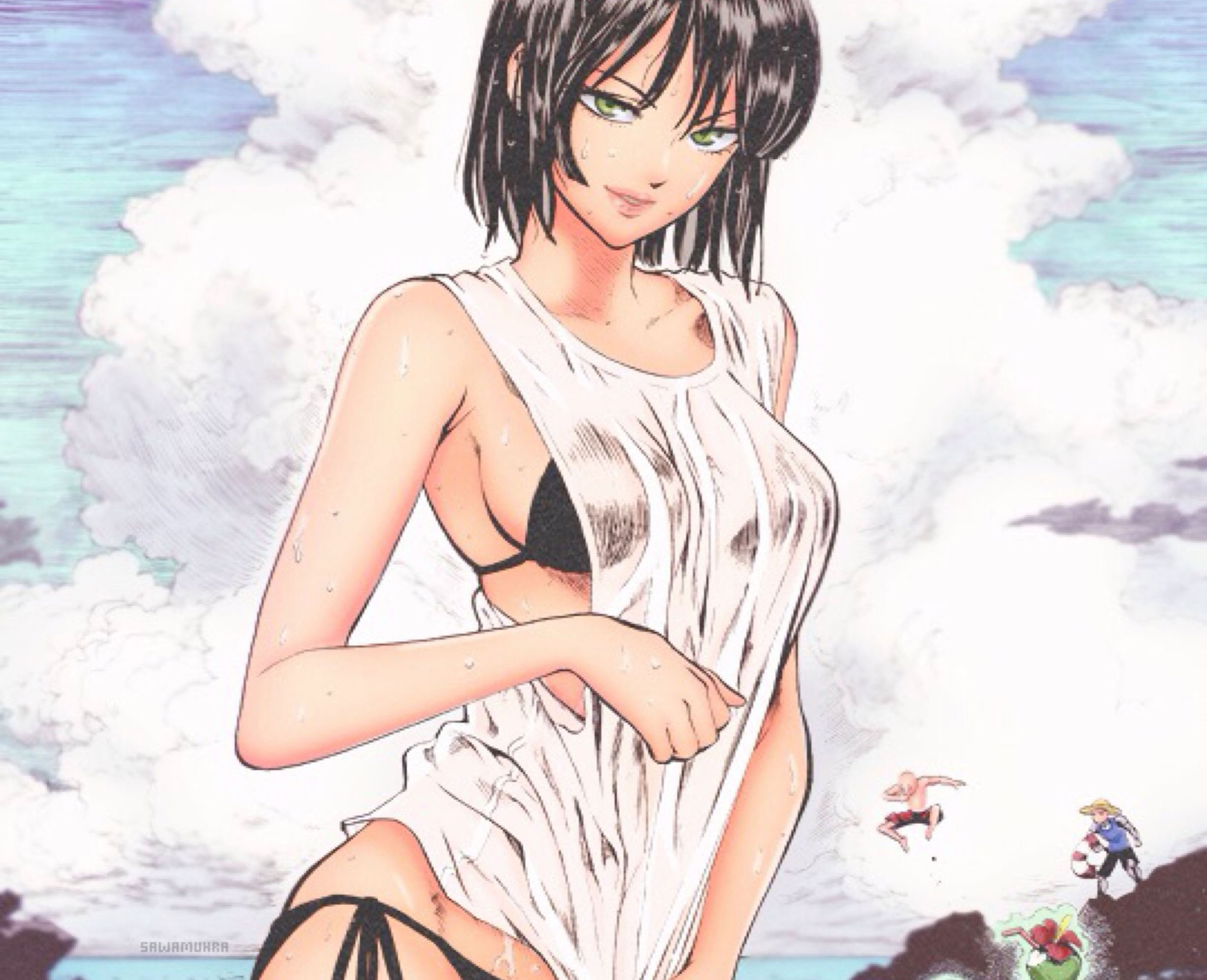 Anime 2452x1991 One-Punch Man Fubuki bikini anime anime girls