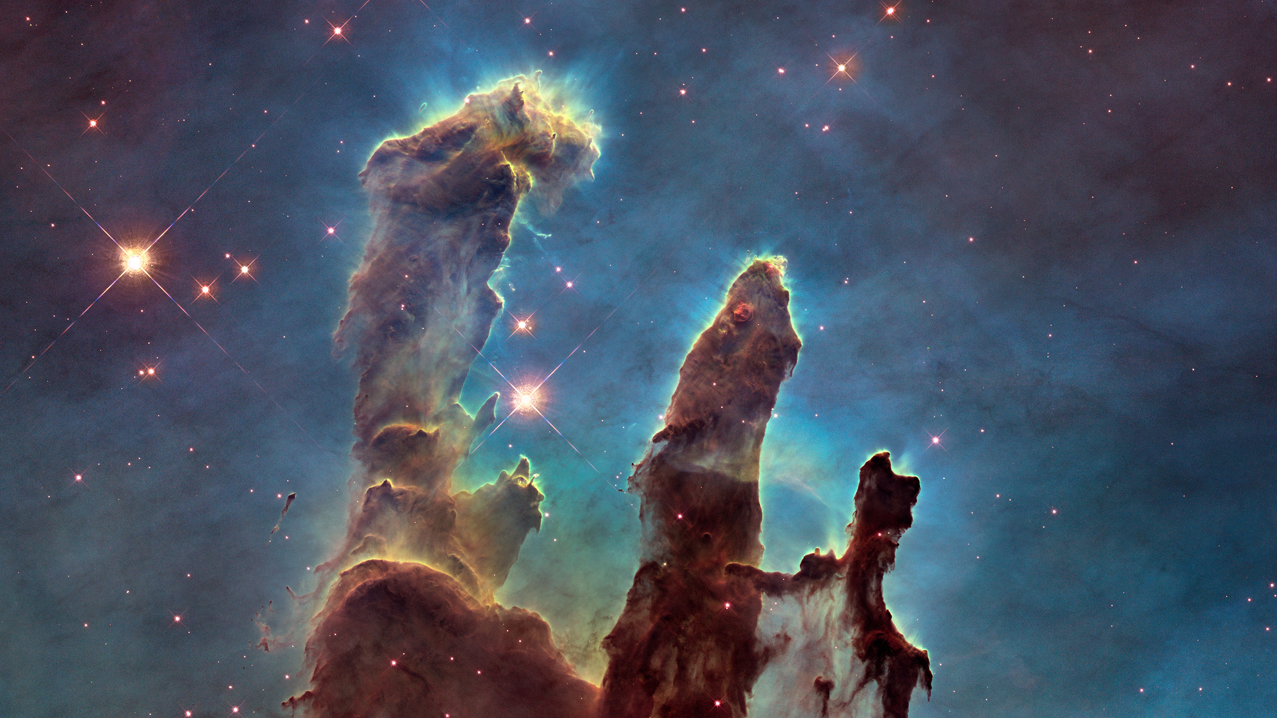 General 2560x1440 Pillars of Creation space stars nebula