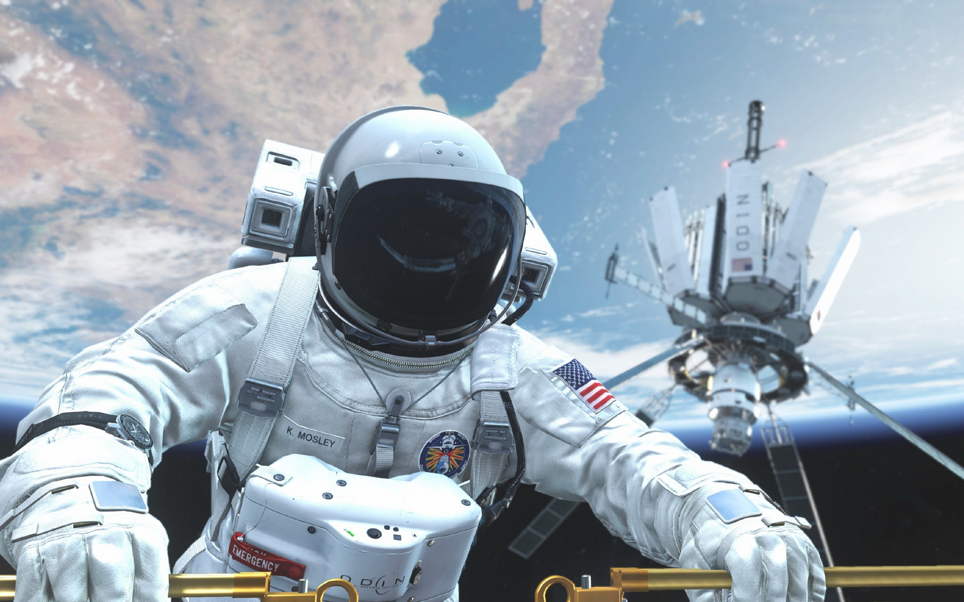 General 1920x1200 space astronaut Earth NASA Call of Duty Call of Duty: Ghosts video games Activision
