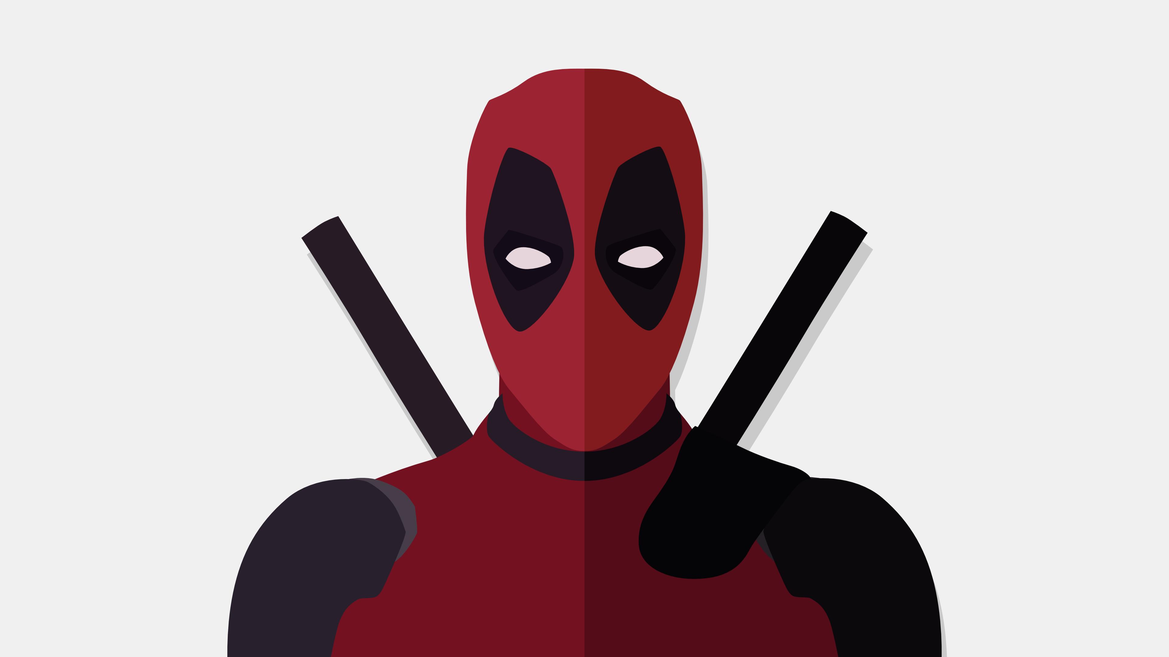General 3840x2160 Flatdesign minimalism Deadpool DeviantArt vector graphics movies